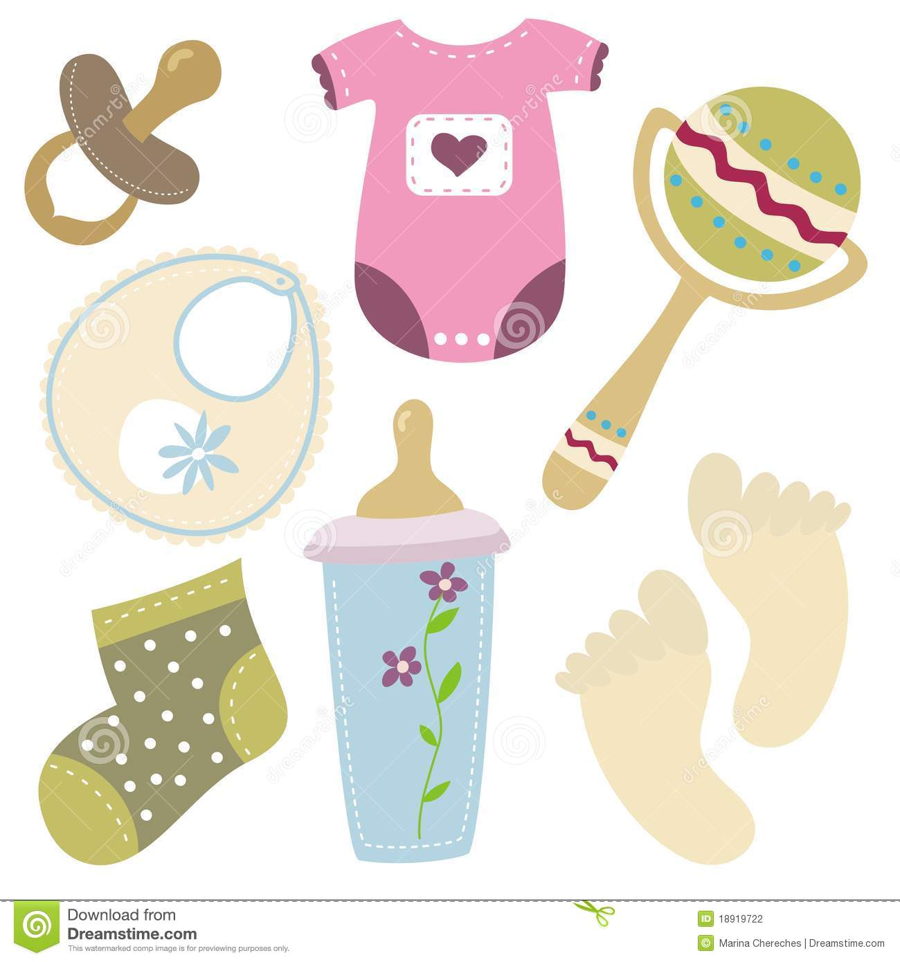 Cartoon baby stuff icons stock vector illustration of family 18919722 cartoon baby stuff icons voltagebd Image collections