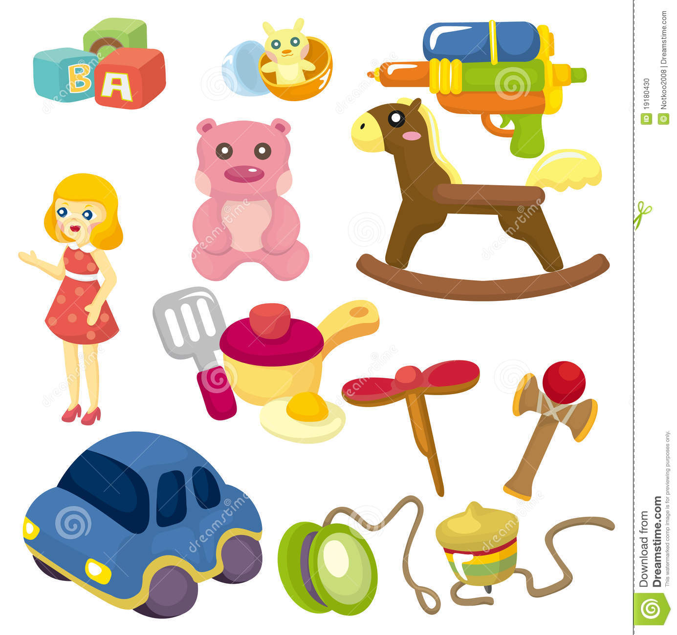 Cartoon Baby Toys : Cartoon baby toy icon stock vector illustration of color