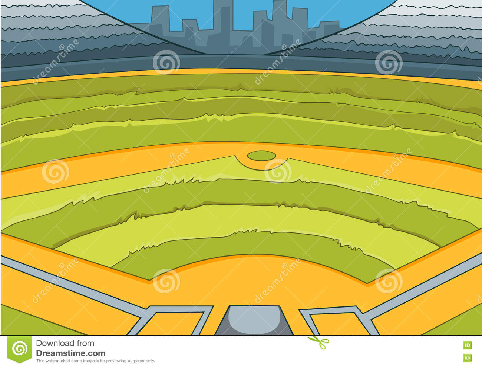 cartoon background of baseball stadium stock illustration rh dreamstime com cartoon baseball field clip art cartoon baseball field images