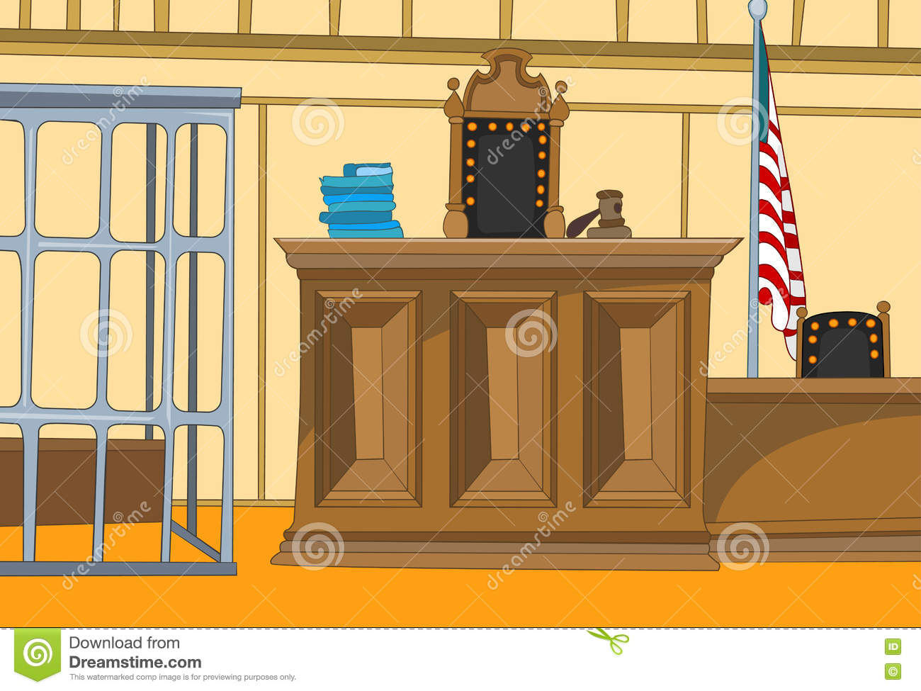 empty courtroom stock illustrations 23 empty courtroom stock rh dreamstime com Jail Clip Art courtroom clipart free