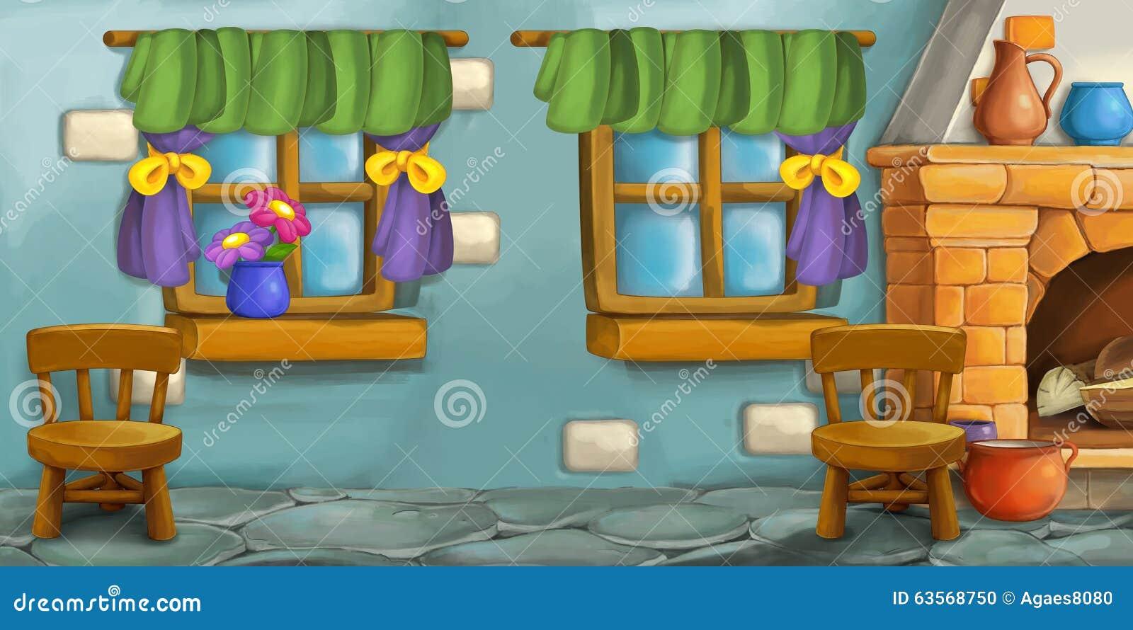 Cartoon Background For Fairy Tale - Kitchen Stock Illustration ...