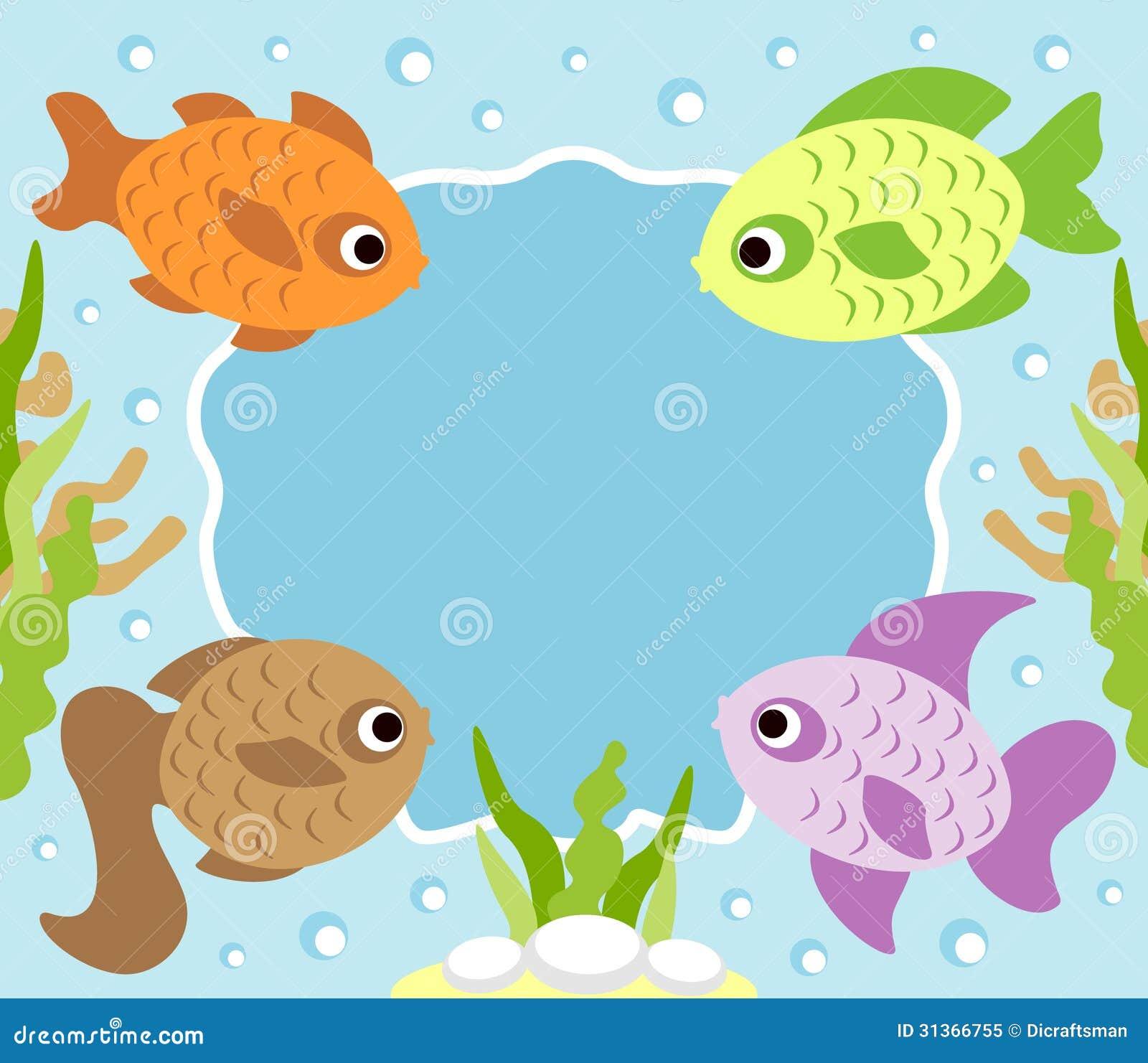 Cartoon Background With Fish Royalty Free Stock Photo - Image ...