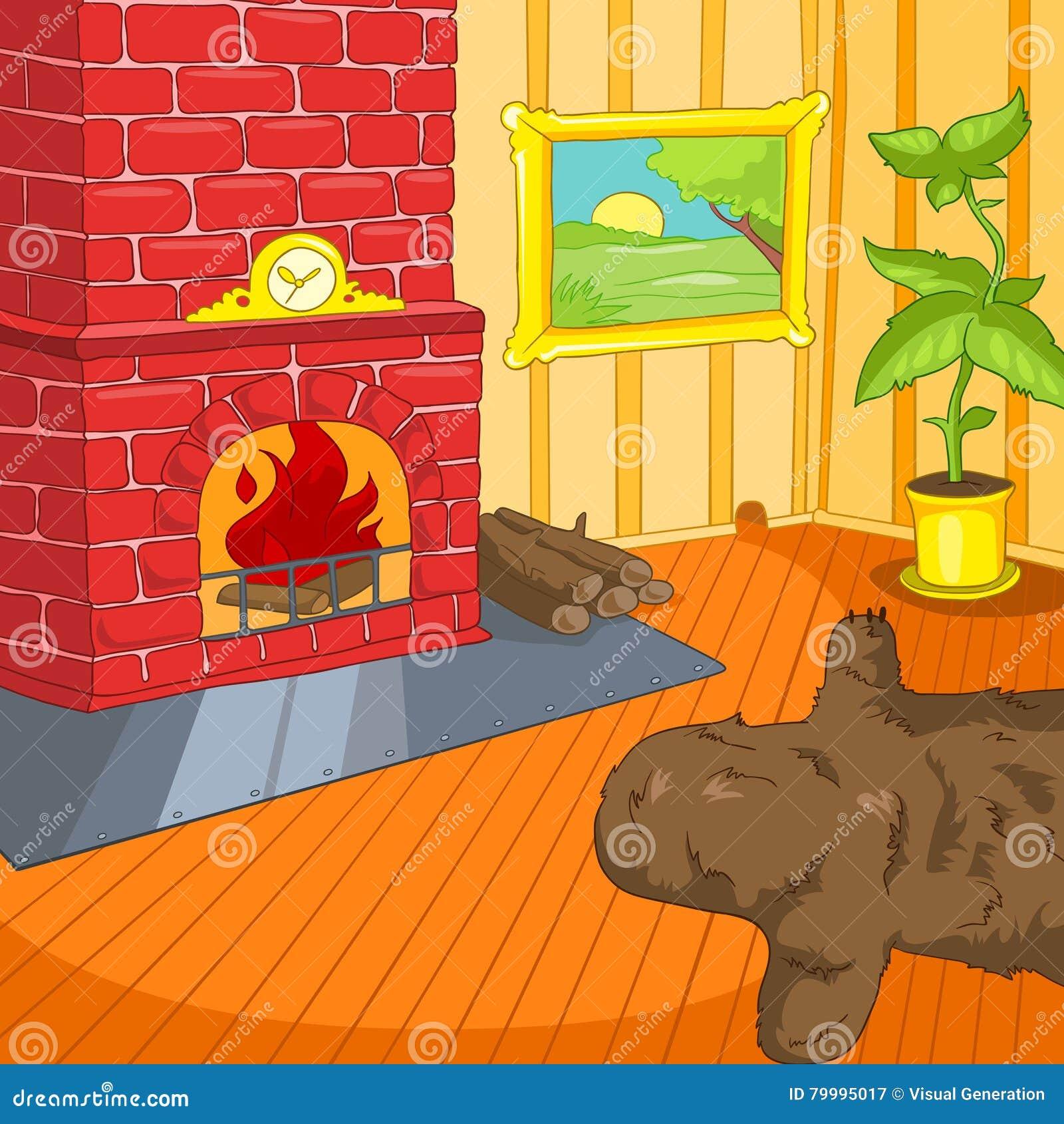 Royalty Free Illustration. Download Cartoon Background Of Vintage Living  Room ... Part 64