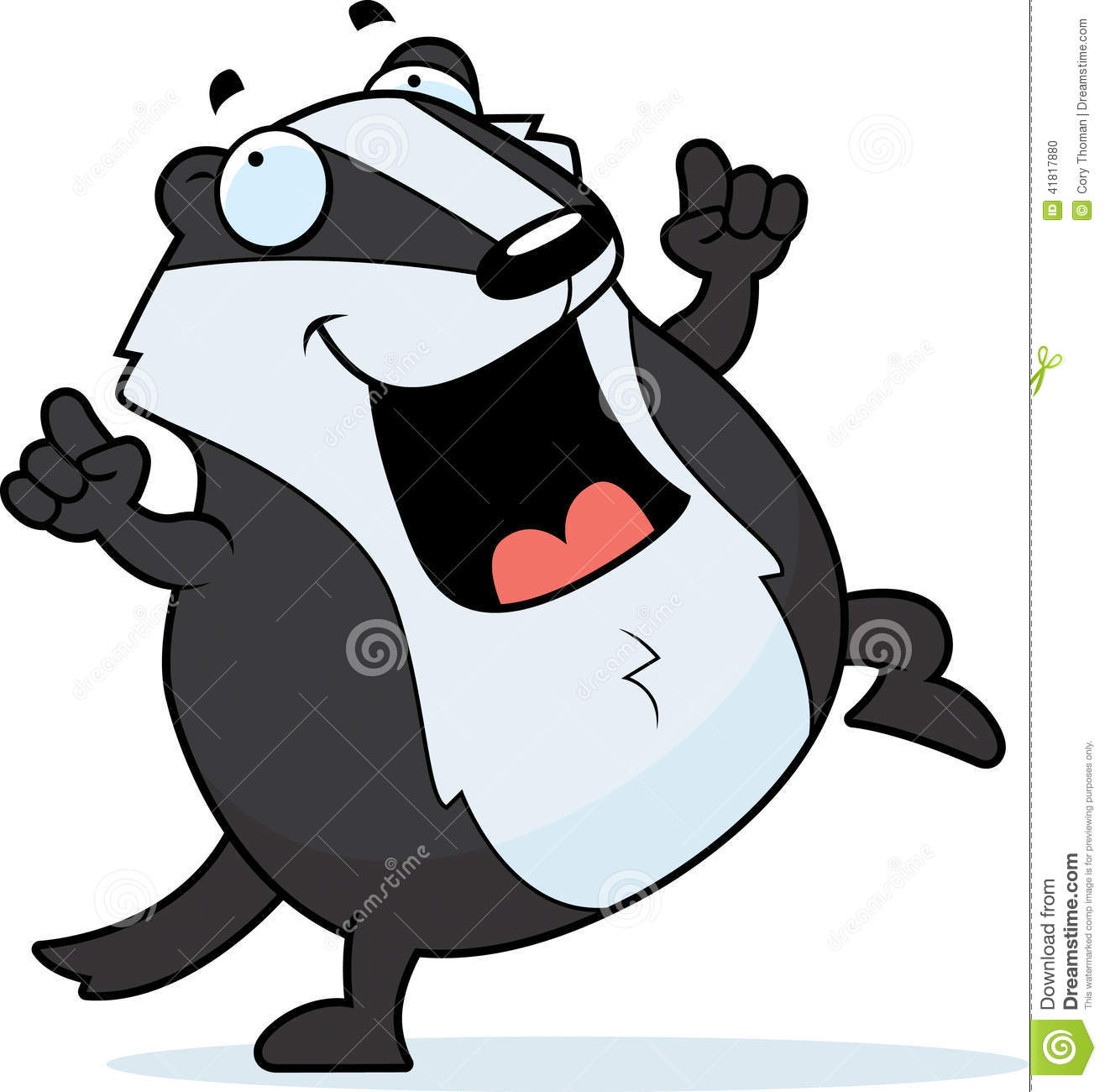cartoon badger dancing stock vector image 41817880 badge clipart with trees badge clipart images