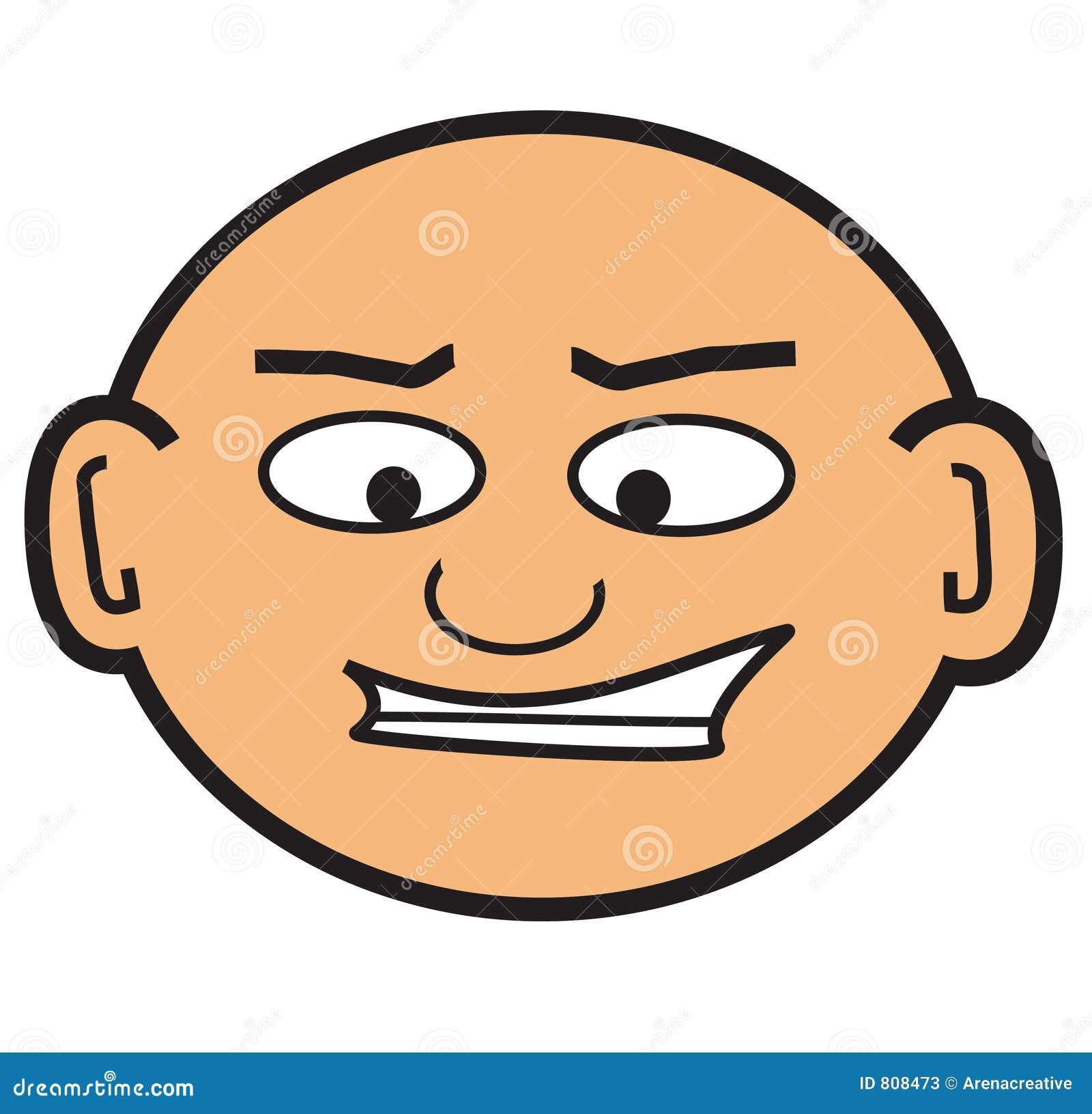 Cartoon Bald Head Stock Photos - Image: 808473
