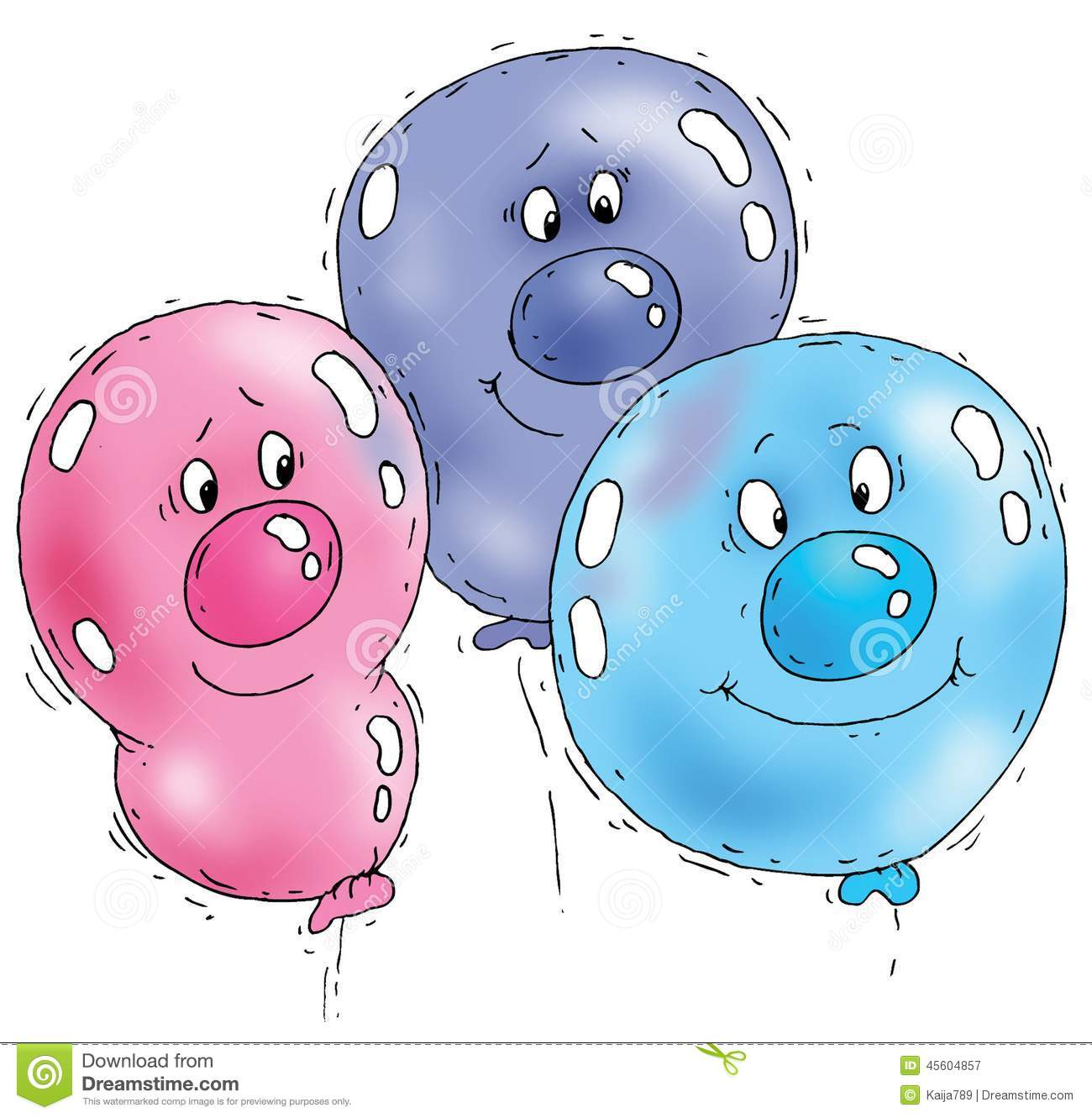 Funny balloon faces - Cartoon Balloon Faces Stock Illustration