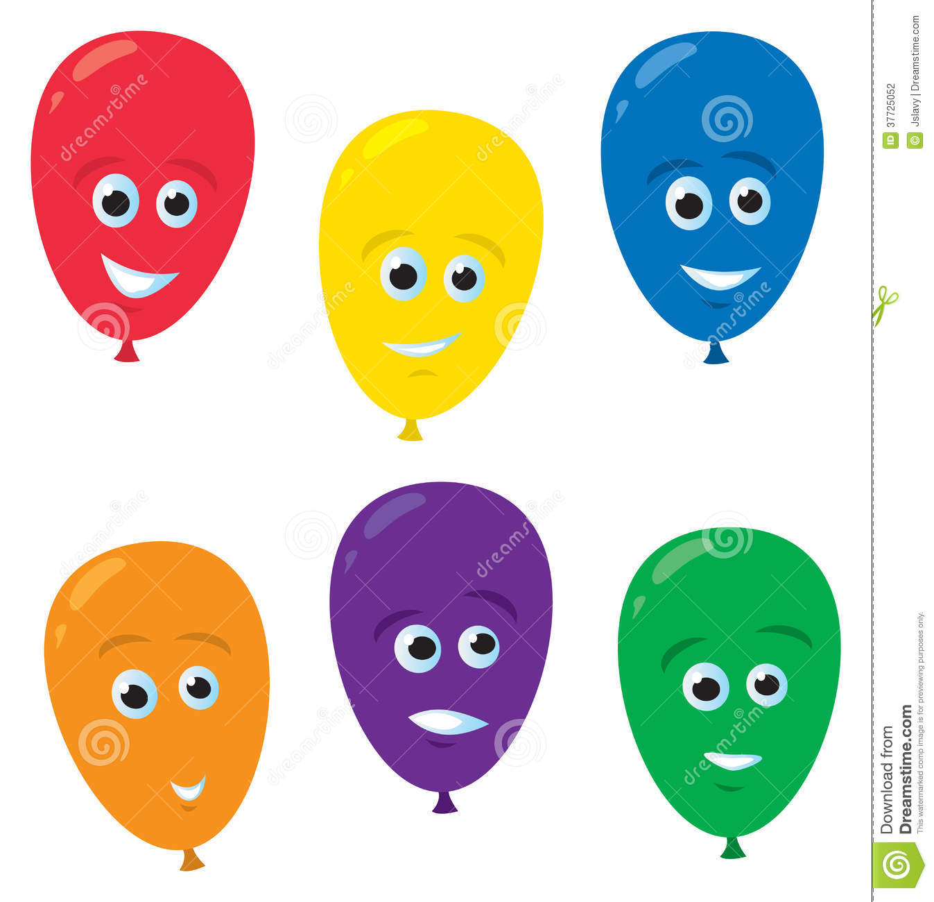 Funny balloon faces - Cartoon Balloon Faces Stock Photography