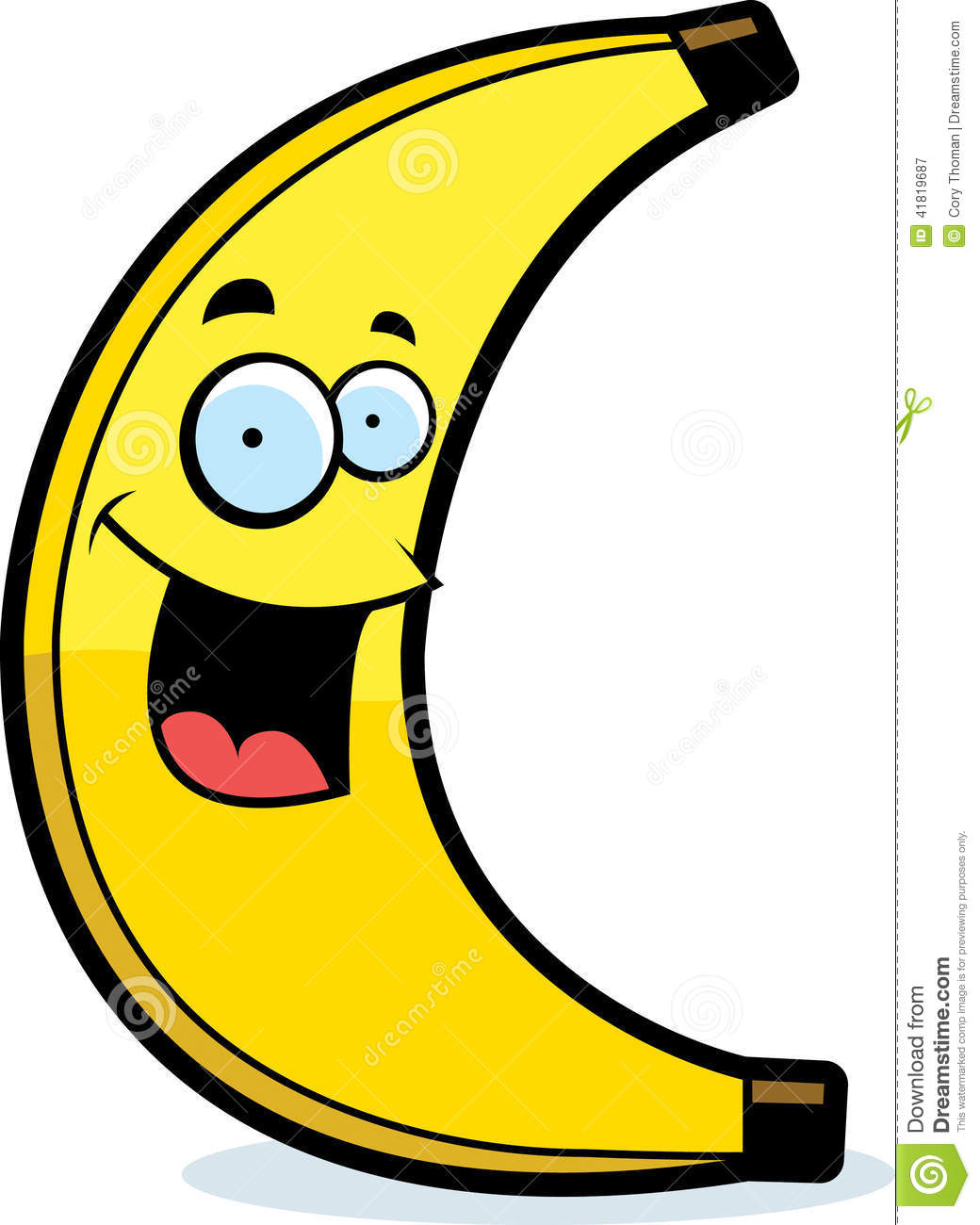 Cartoon Banana Smiling Stock Vector - Image: 41819687