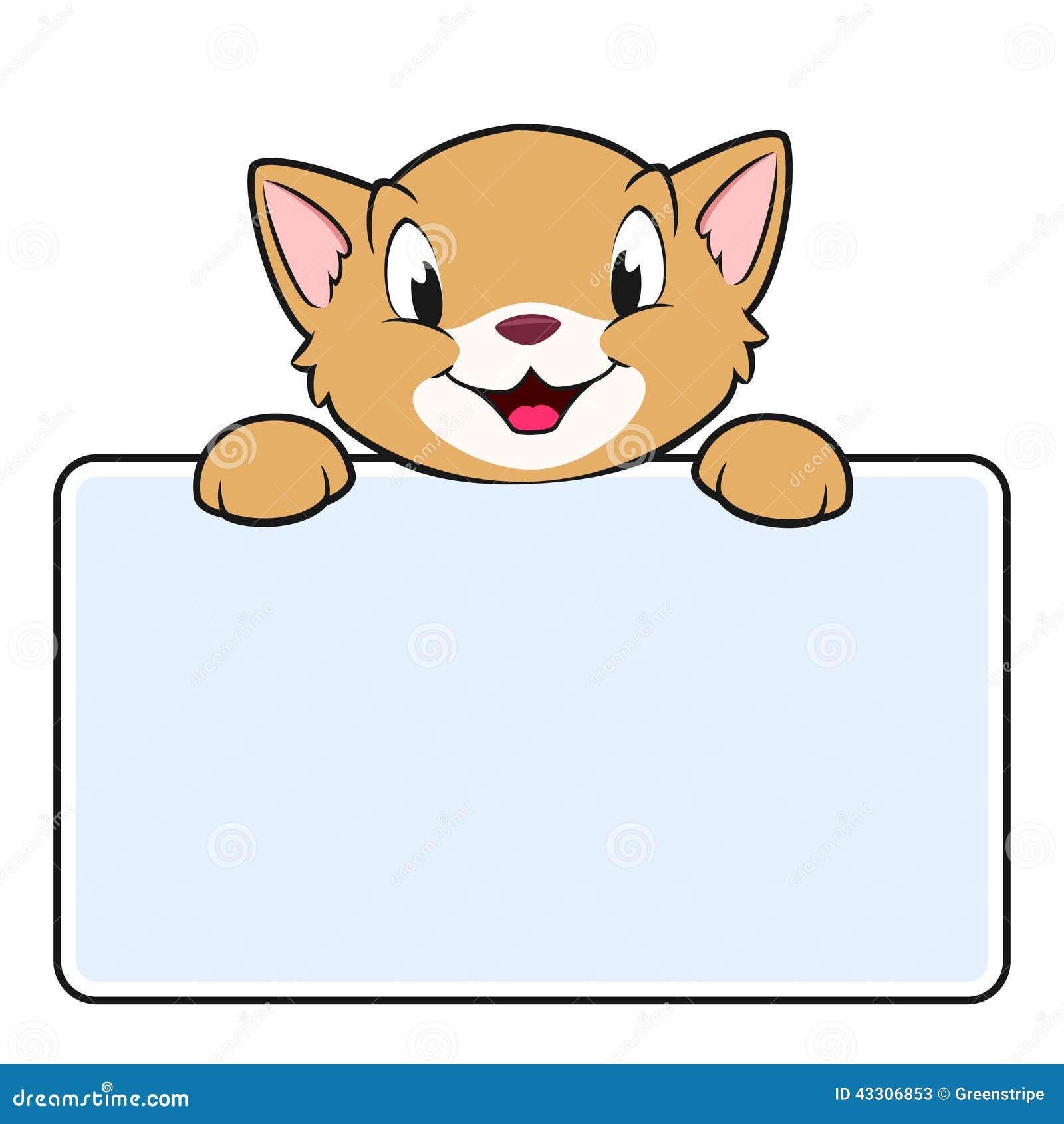 Cartoon Banner Cat Stock Vector - Image: 43306853