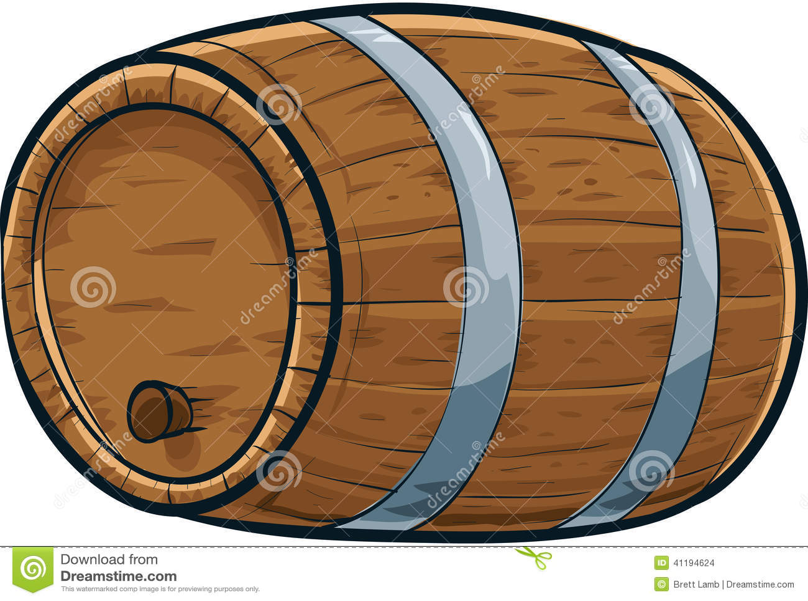 Cartoon Barrel Stock Illustration - Image: 41194624