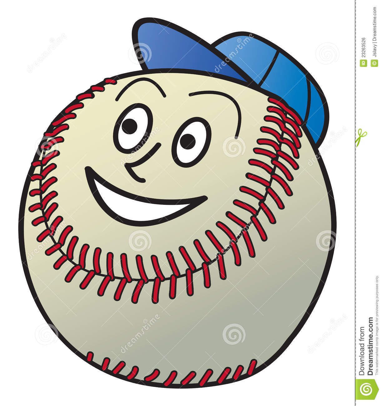 Cartoon Baseball Royalty Free Stock Image - Image: 23263526