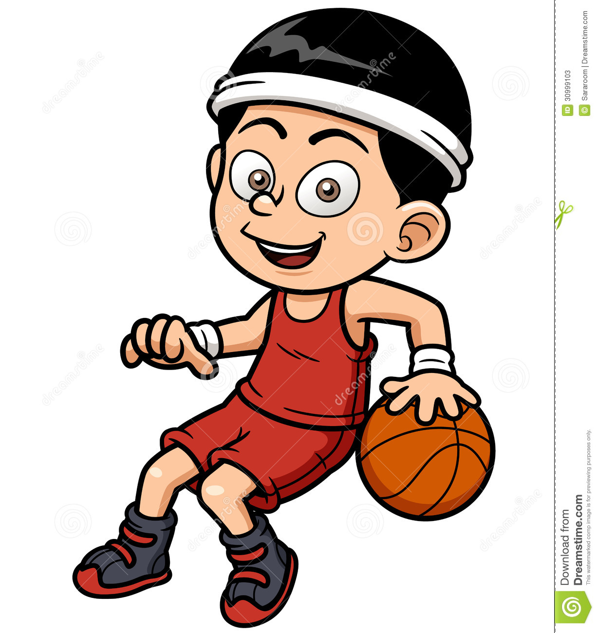 Cartoon Characters Playing Basketball : Cartoon basketball player stock vector illustration of