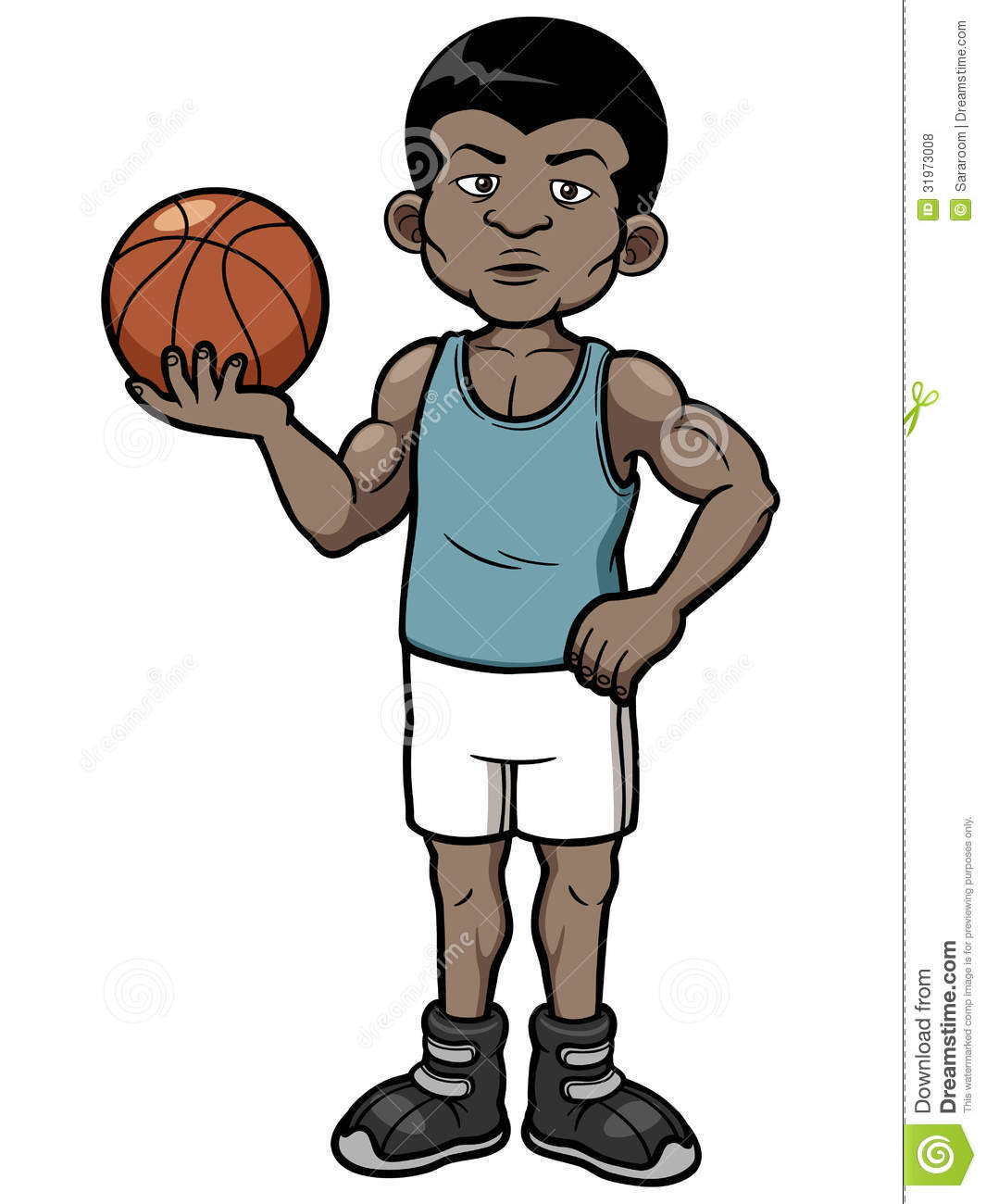Cartoon basketball player standing