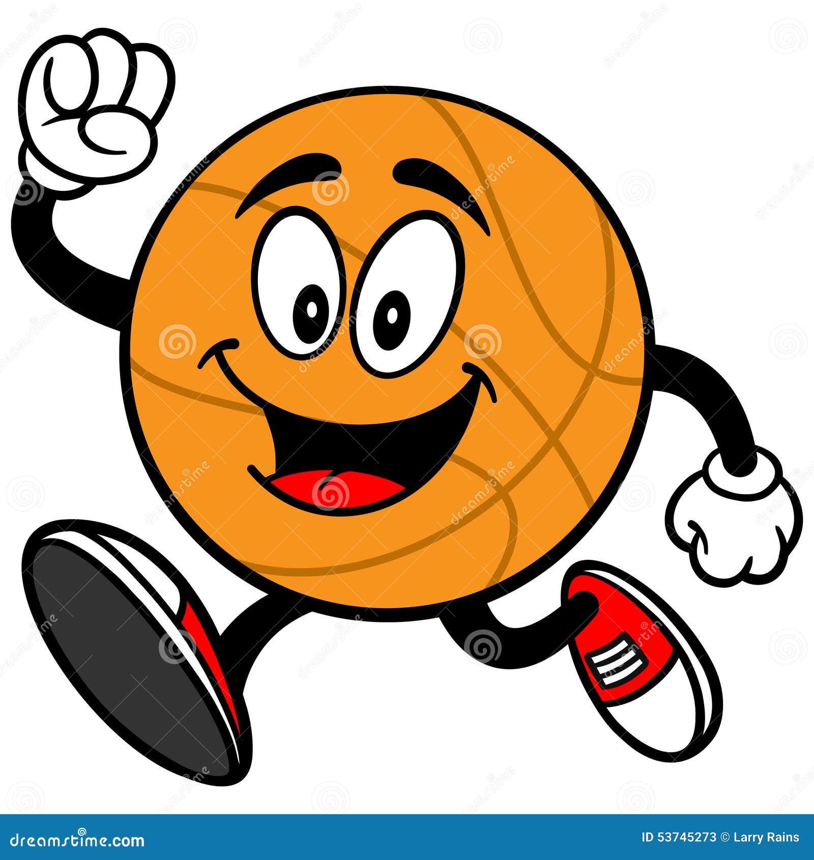 Cartoon Basketball Running Stock Vector - Image: 53745273