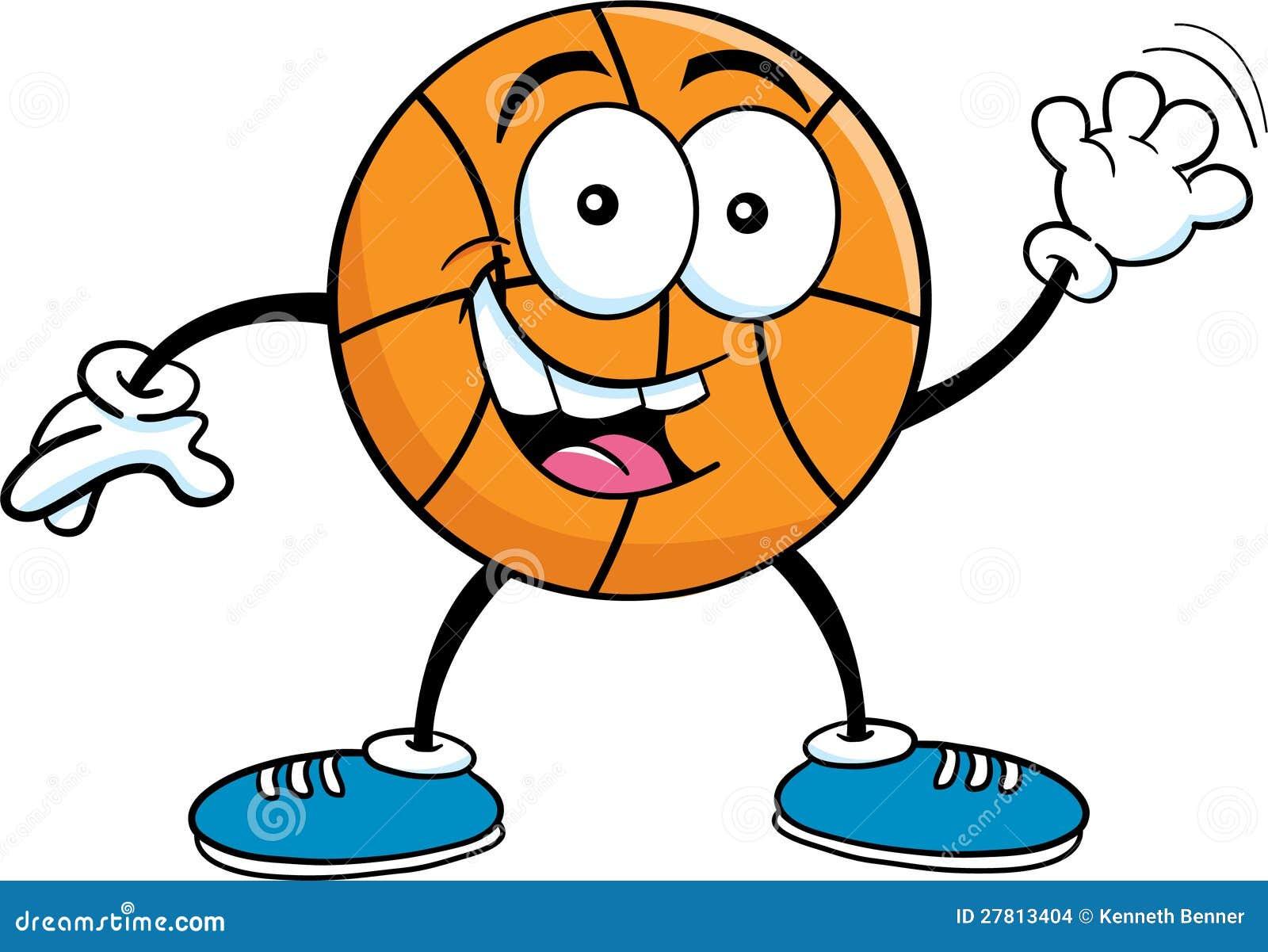 Cartoon Basketball Waving Stock Images - Image: 27813404