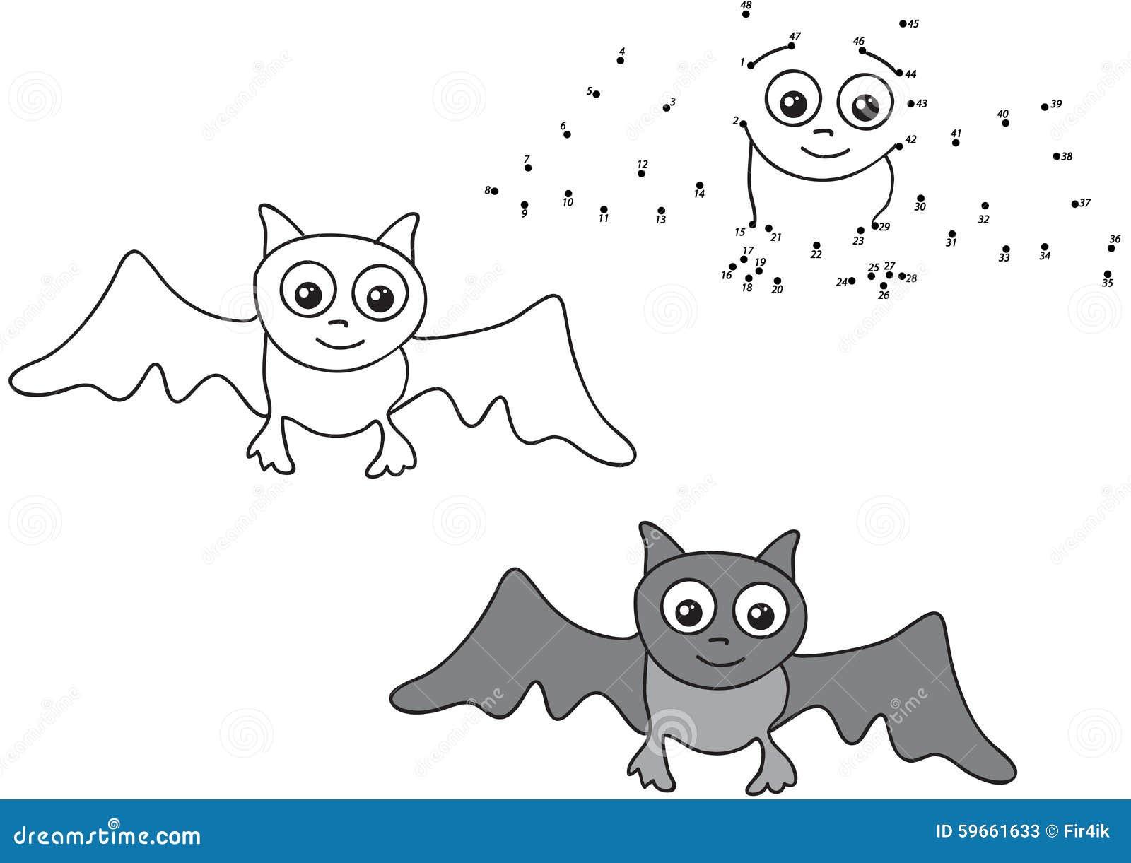 Cartoon Bat Vector Illustration