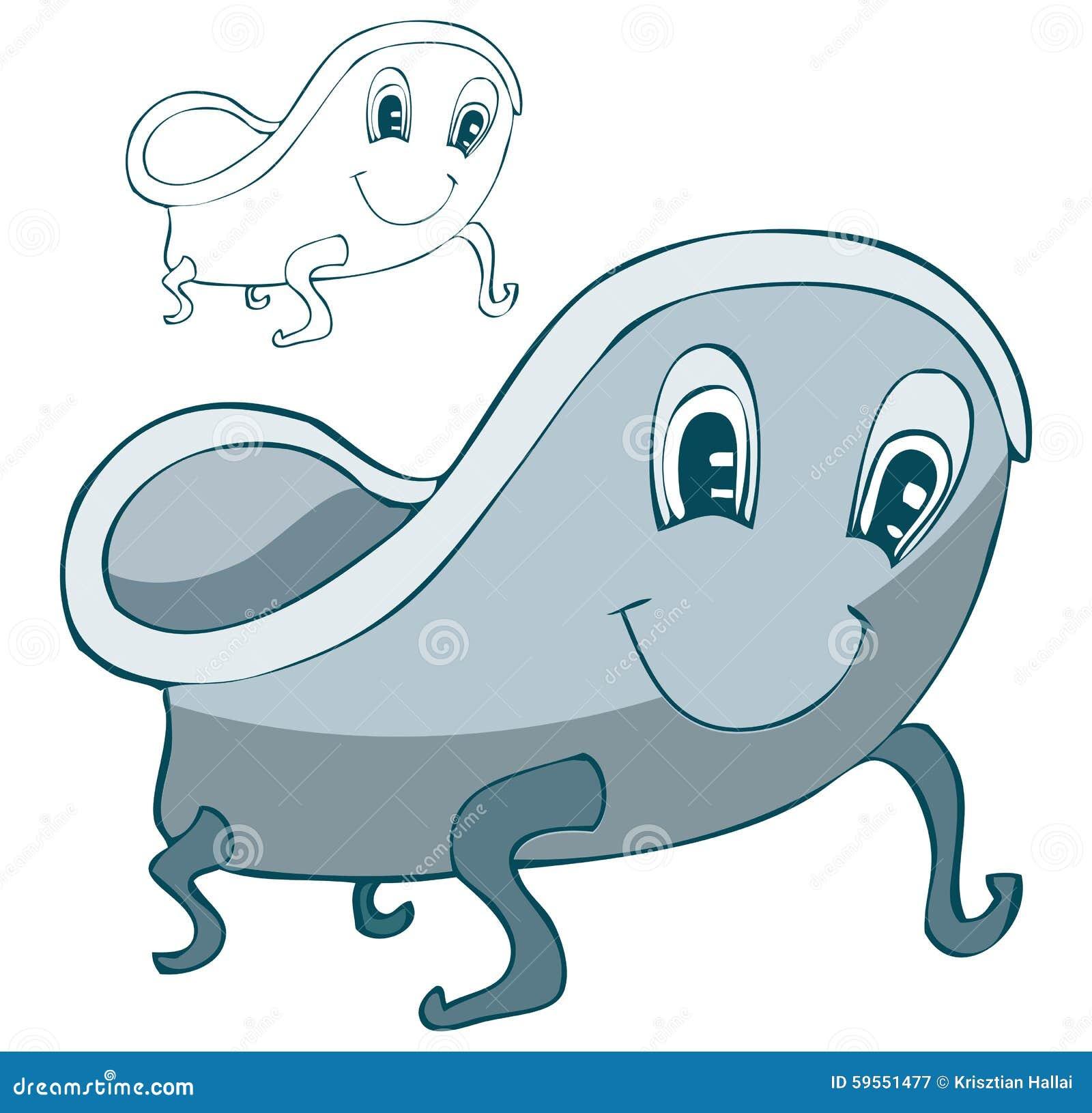 bathtub cartoon. Cartoon Bathtub Vector Illustration  Stock Image
