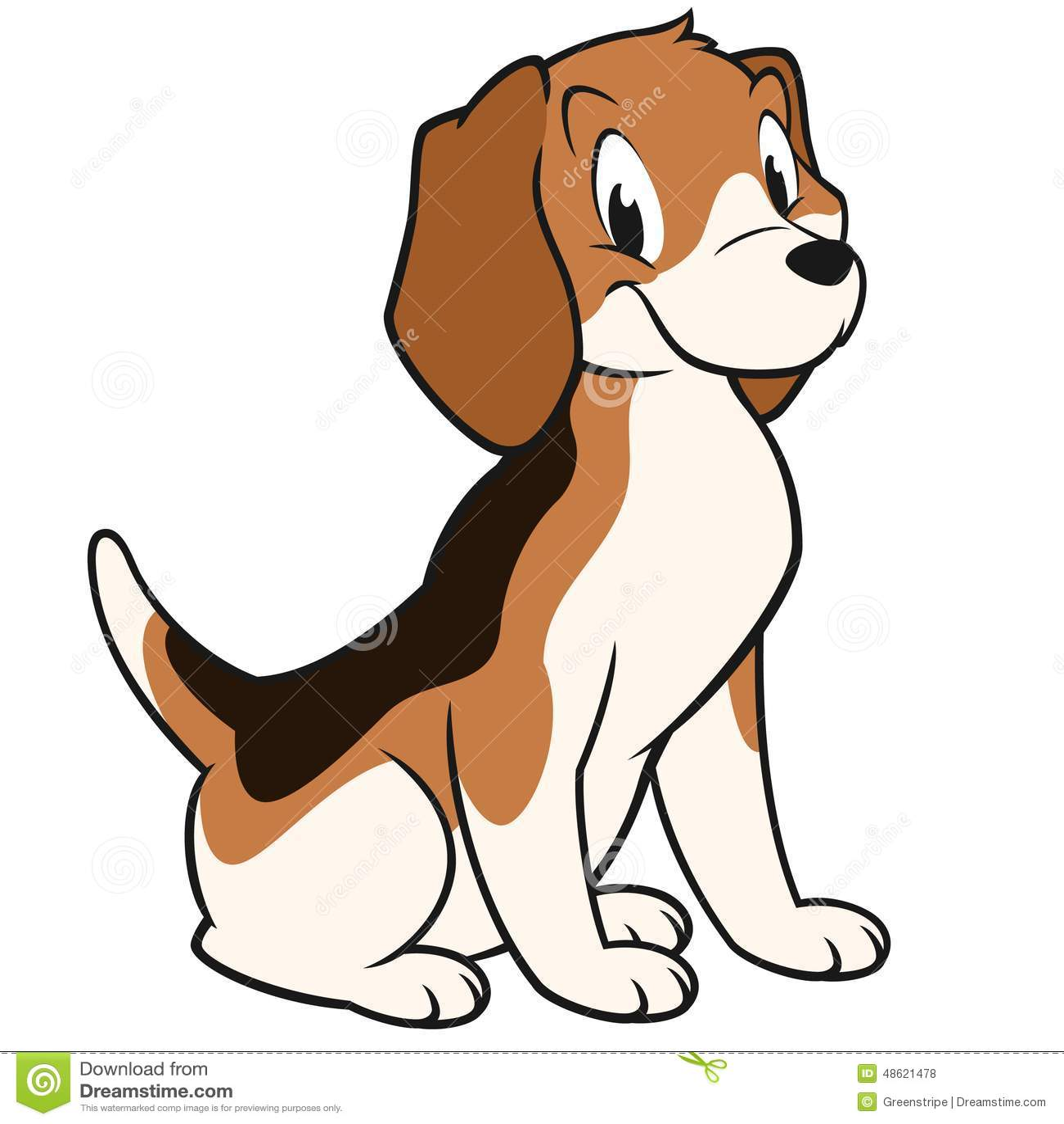 Cartoon Beagle Stock Vector - Image: 48621478