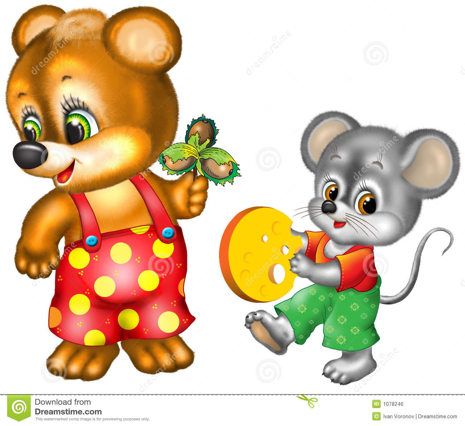 Cartoon Bear And Mouse Royalty Free Stock Image - Image ... - photo#14