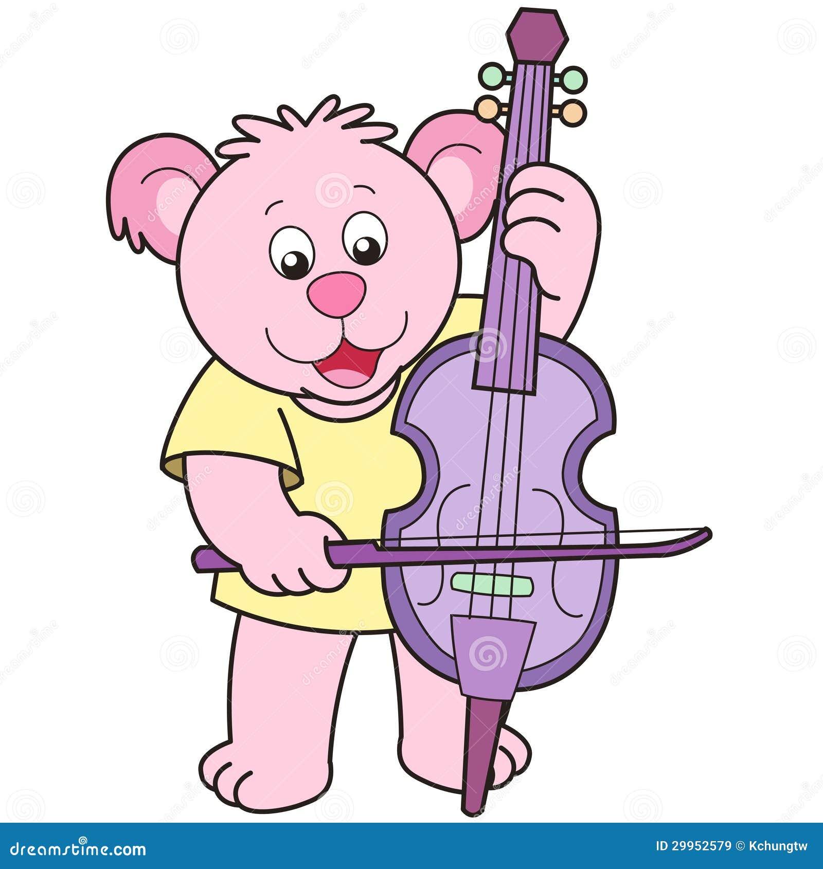 Cello cartoon cello player stock photography image 32561422 - Cartoon Bear Playing A Cello Royalty Free Stock Images