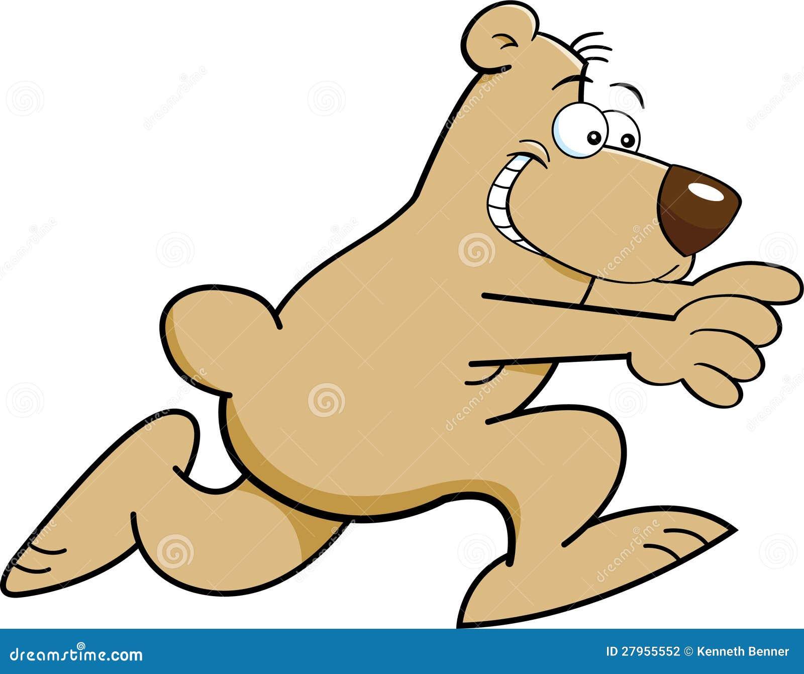 Cartoon Bear Running Stock Photography Image 27955552