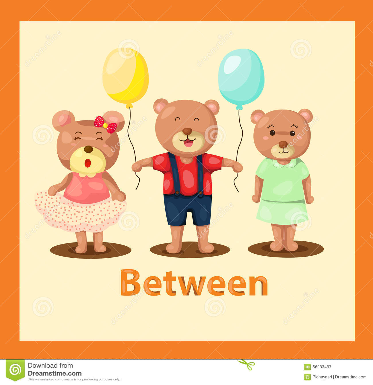 Stock Illustration Cartoon Bears Vocabulary Illustration Image56883497 on Cute Preschool Clip Art