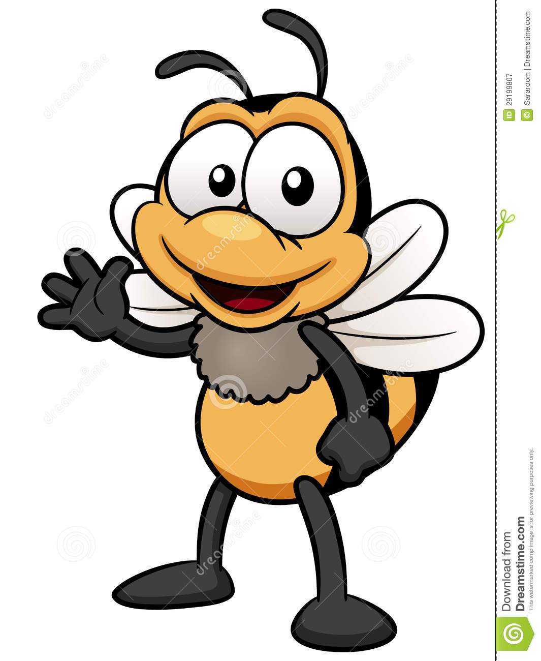 Cartoon Bee Royalty Free Stock Photography - Image: 29199807