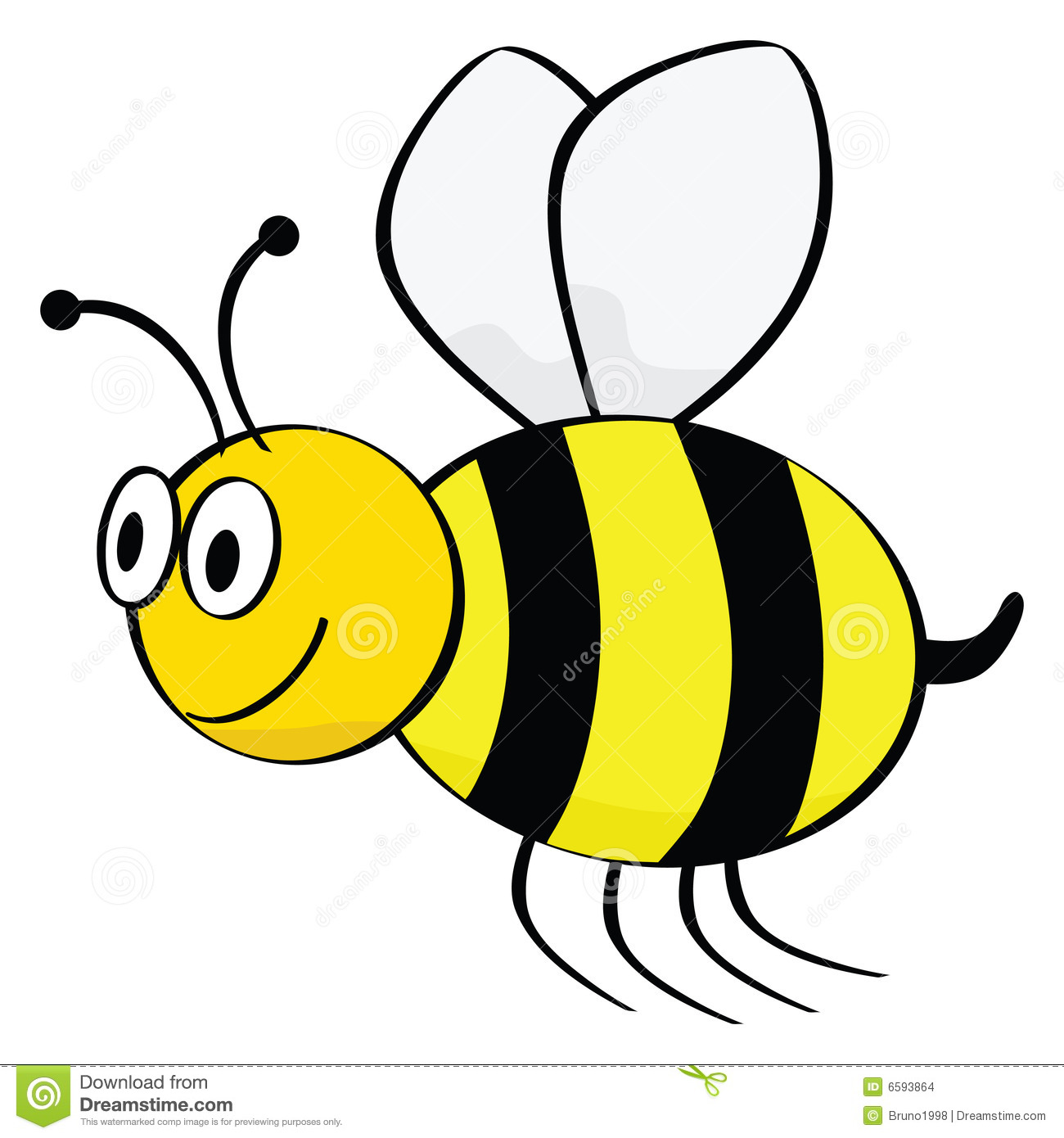 Black Bumble Bee >> Cartoon bee stock vector. Illustration of animal, flee - 6593864