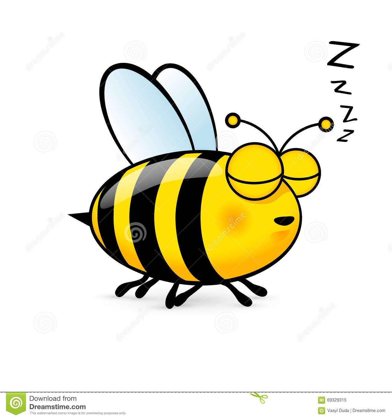 cartoon bee stock vector image 69329315 cute bee clip art outline cute honey bee clipart