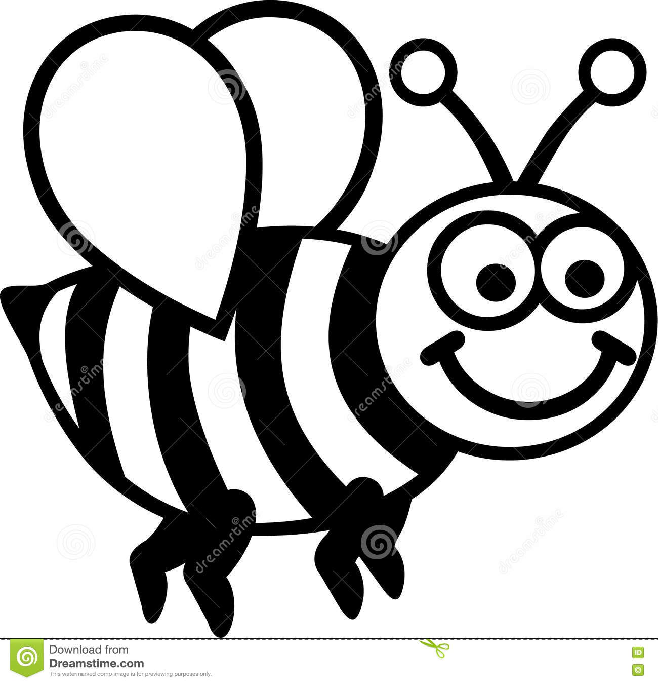Cartoon Bee Cartoon Vector Cartoondealer Com 25264273