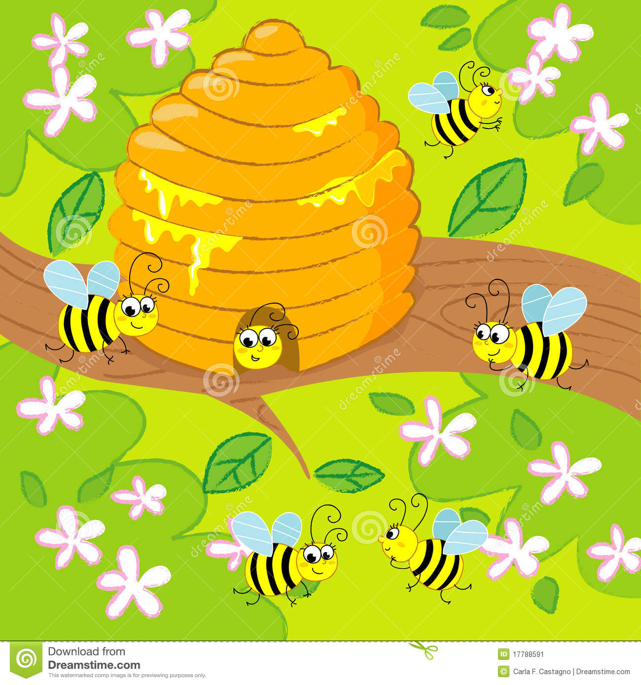 More similar stock images of ` Cartoon beehive `