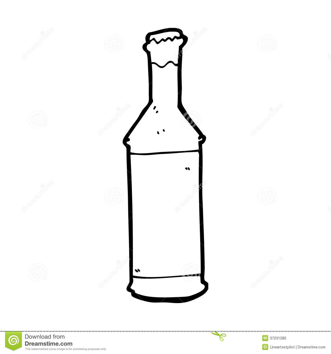 One Line Art Beer : Cartoon beer bottle stock illustration of