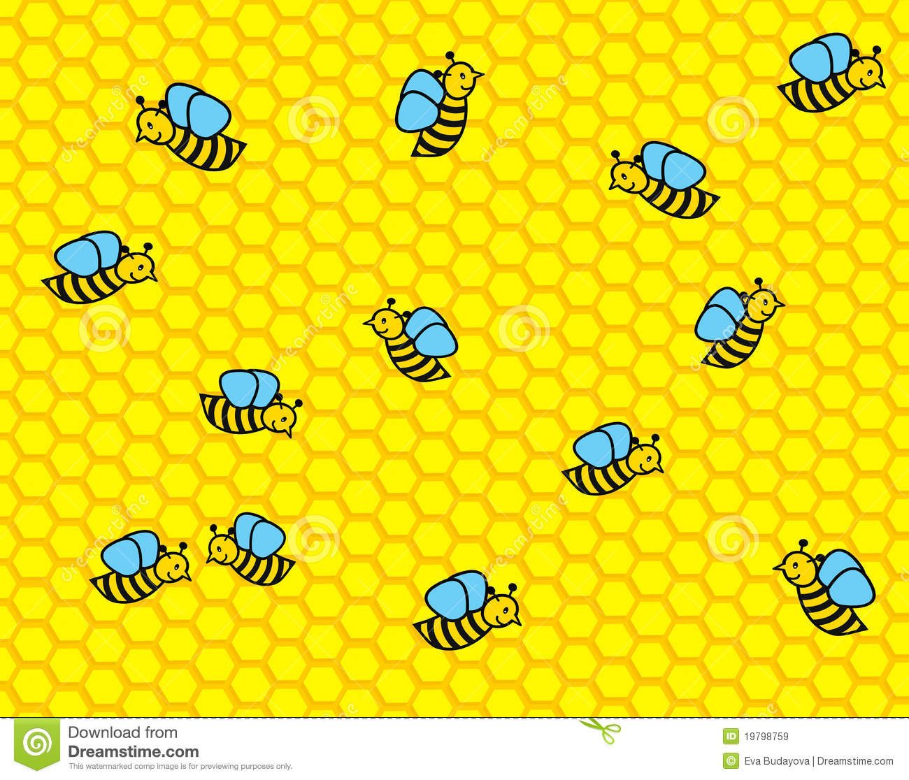 Cartoon Bees Royalty Free Stock Images Image 19798759
