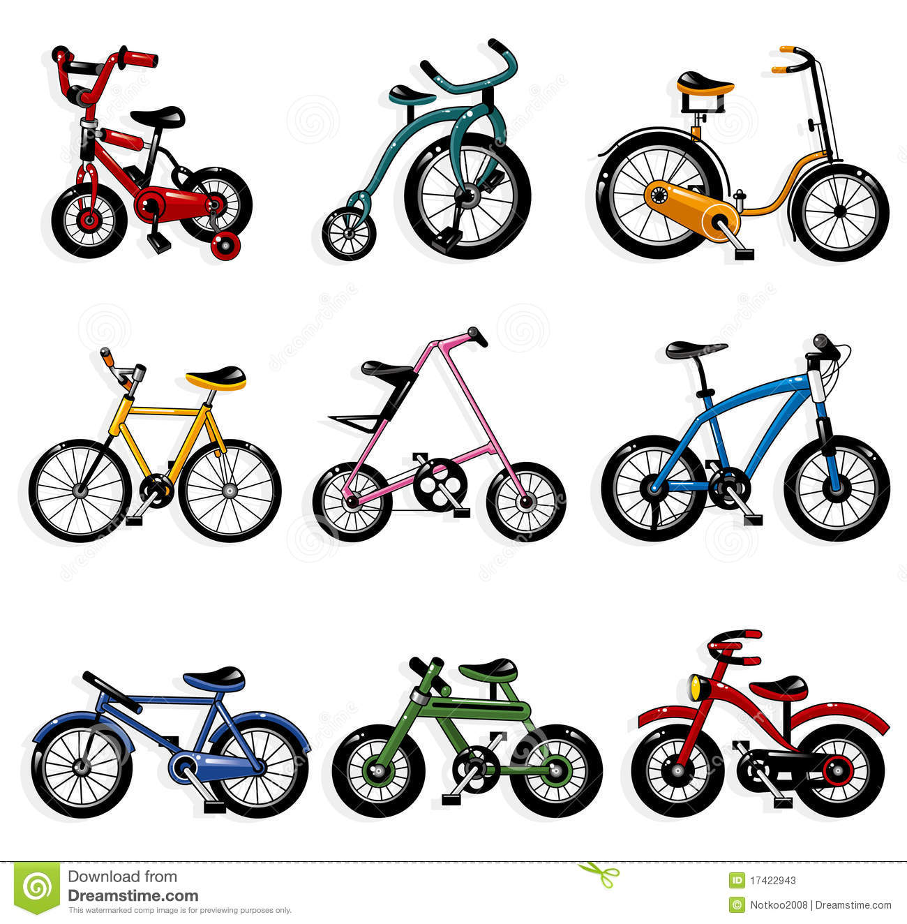 Cartoon Bicycle Stock Photos - Image: 17422943