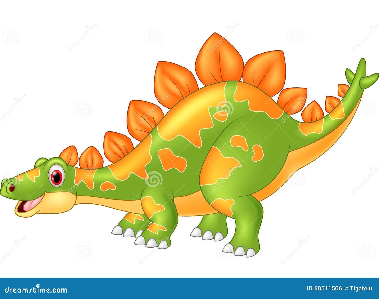 Cartoon Big Dinosaur Stegosaurus Stock Illustration - Image: 60511506