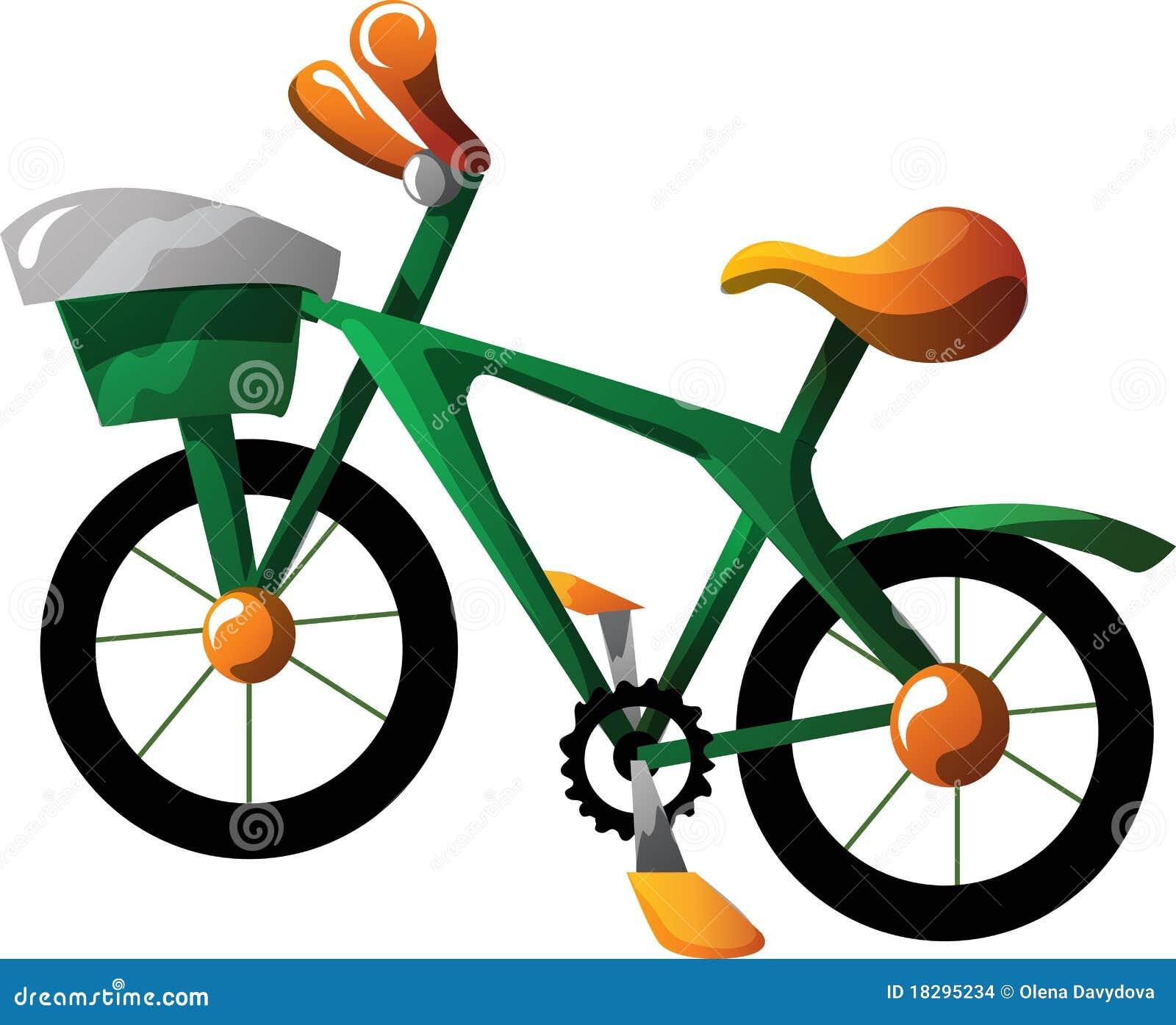 Cartoon Bike Stock Images - Image: 18295234