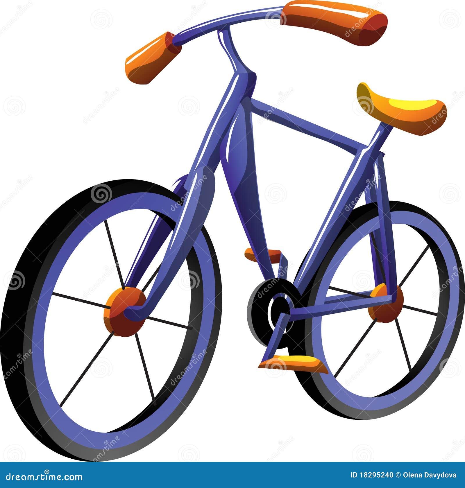 Cartoon Bike Stock Photo - Image: 18295240