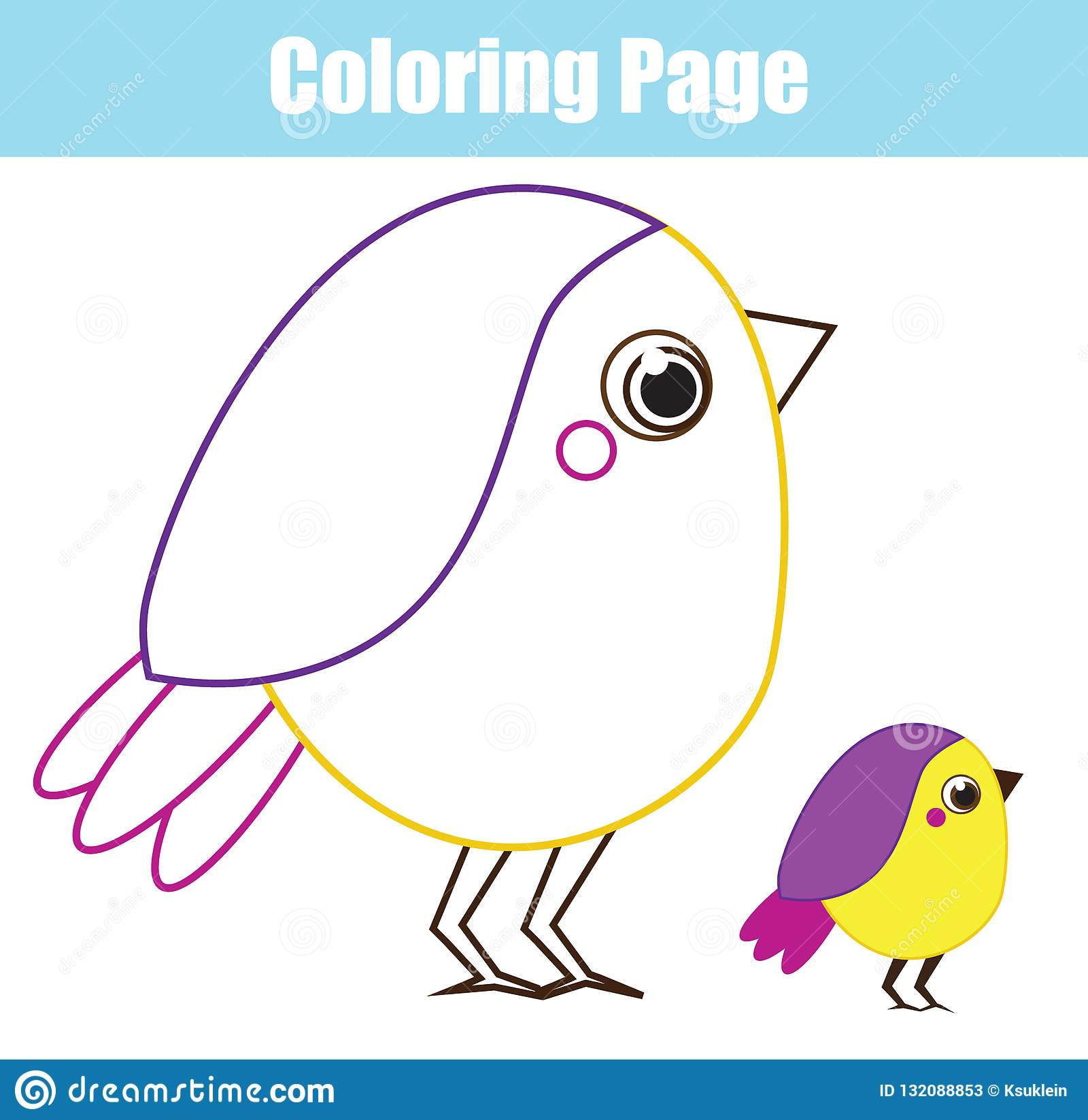 image relating to Printable Birds referred to as Cartoon Chicken. Coloring Web page For Kids And Children. Printable