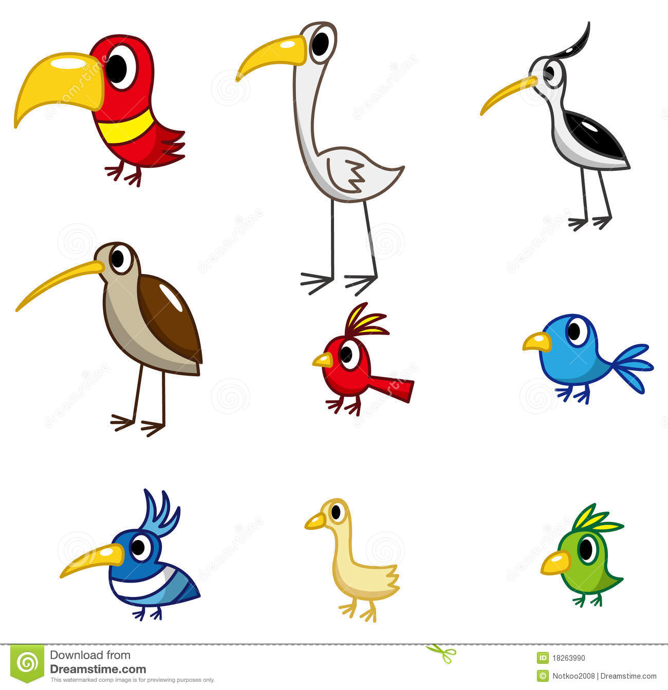 Cartoon Bird Icon Stock Photo Image 18263990