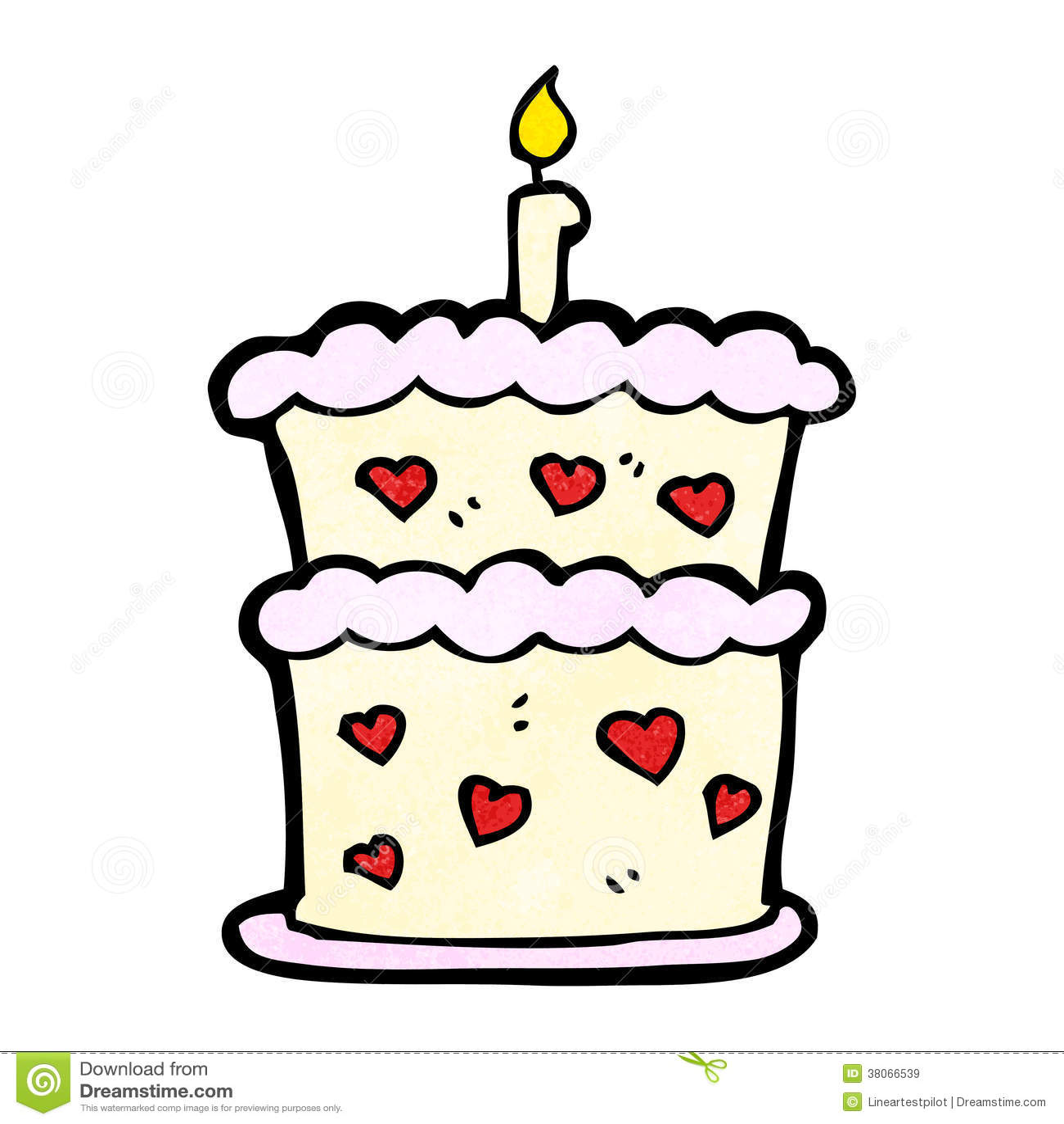 Cartoon Birthday Cake Stock Vector Illustration Of Illustration