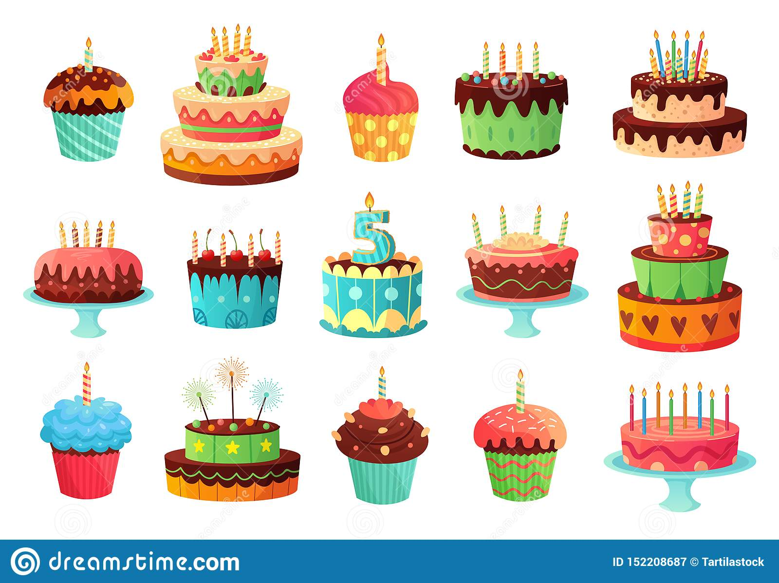 Pleasant Cartoon Birthday Party Cakes Sweet Baked Cake Colourful Cupcakes Funny Birthday Cards Online Elaedamsfinfo