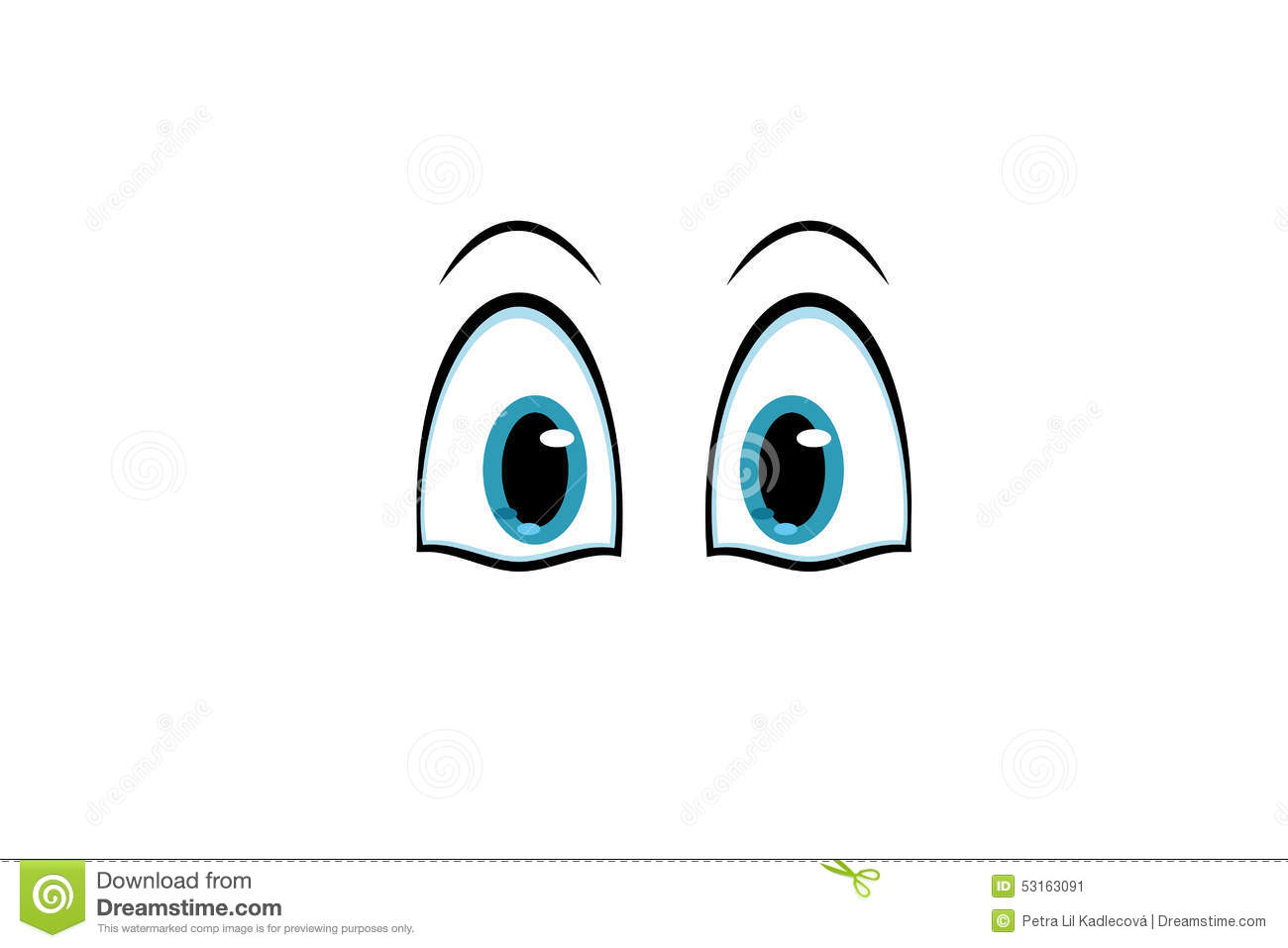 Cartoon Characters Eyes : Cartoon blue eyes for characters stock vector