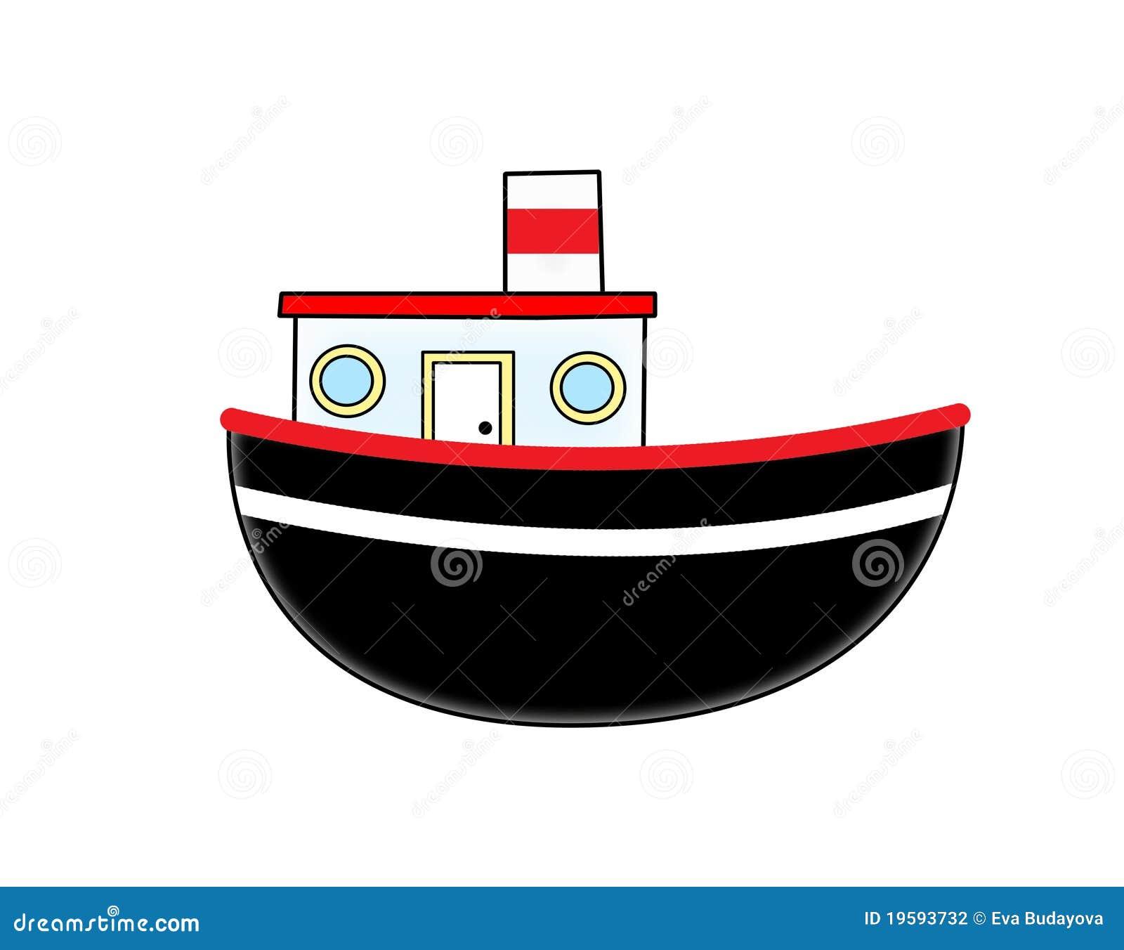 Cartoon boat stock illustration. Illustration of background - 19593732