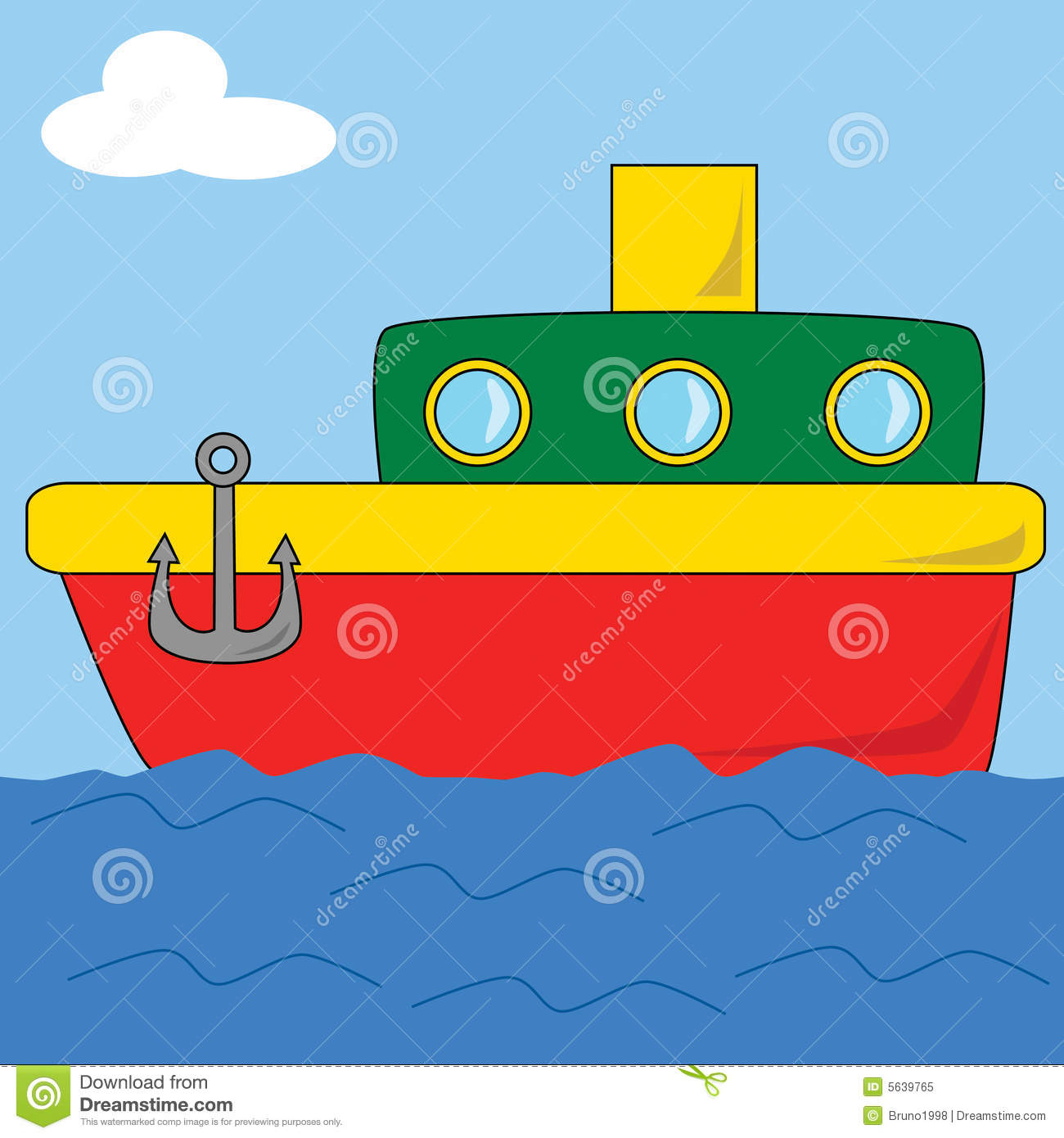 Cartoon Boat 2 Royalty Free Stock Photo - Image: 5639765