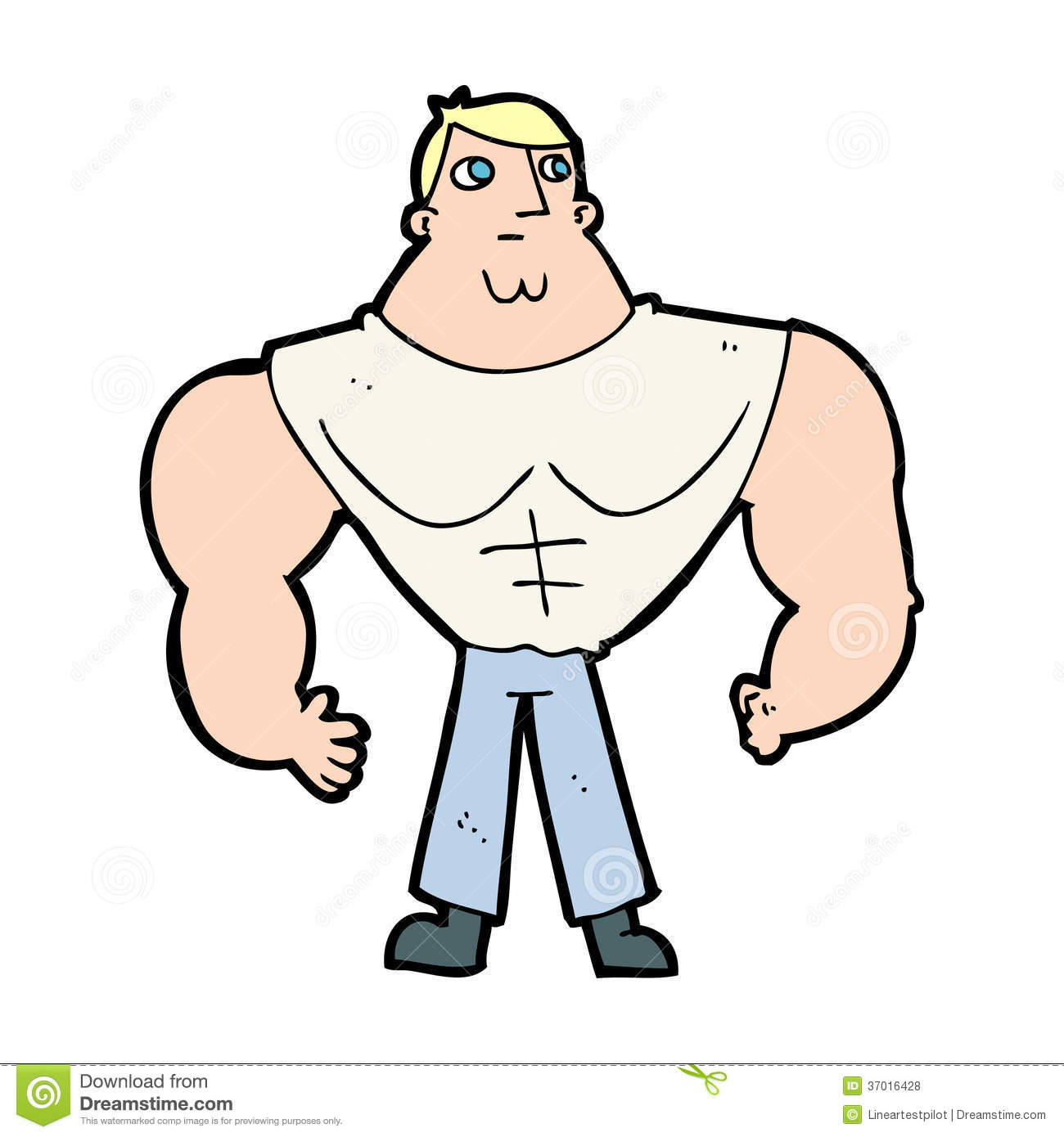 Cartoon body builder royalty free stock photos image - Cartoon body builder ...