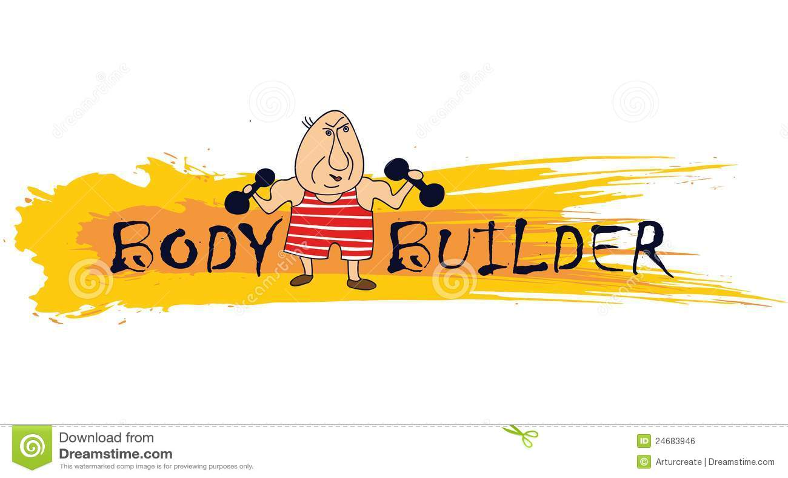 Cartoon bodybuilder stock vector. Image of health, fitness