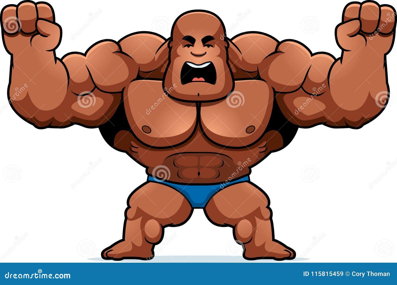 Cartoon Bodybuilder Angry Stock Vector Illustration Of Cartoon 115815459