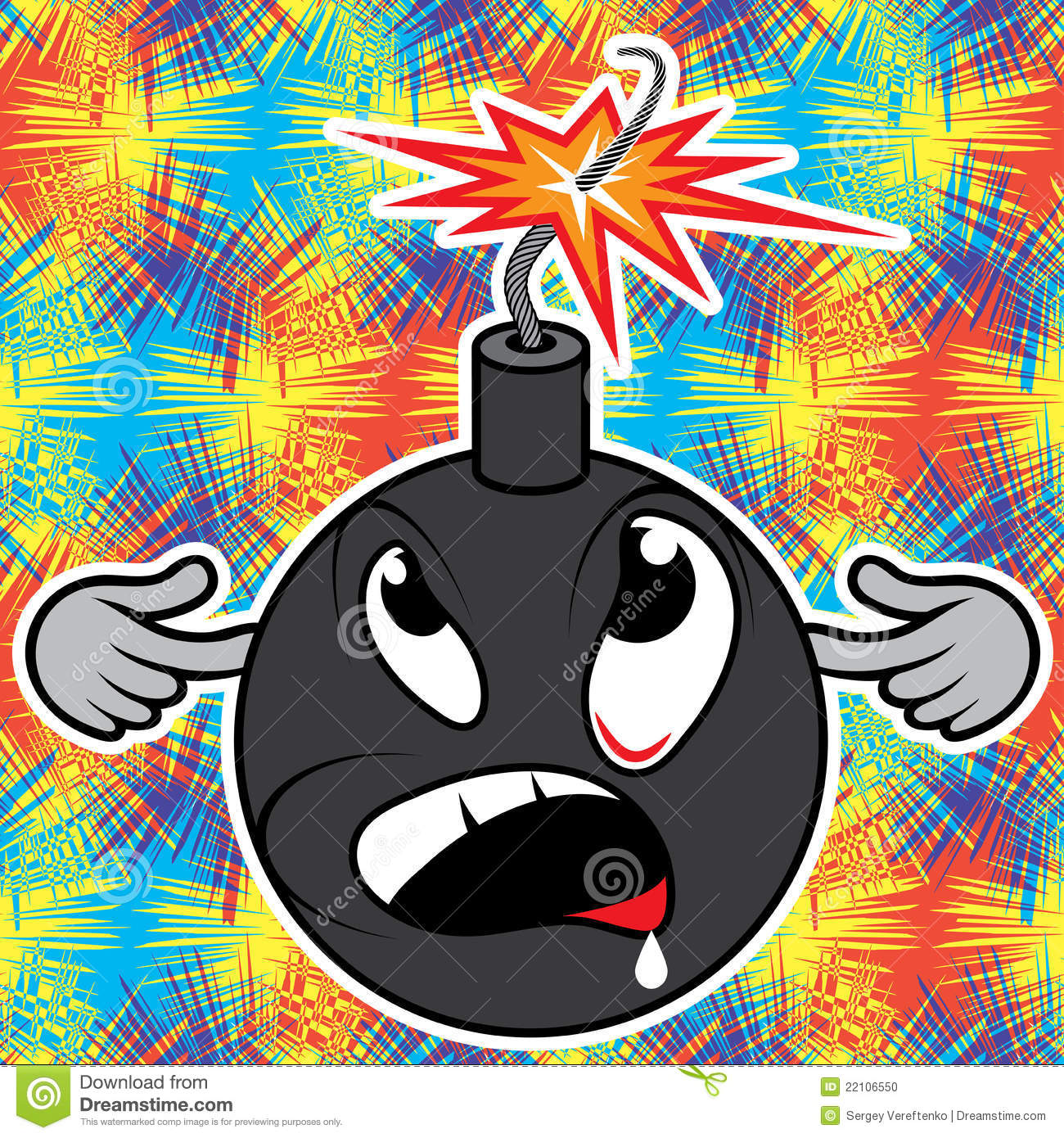 Bomb Explosion Cartoon cartoon bomb before explosion. stock photo ...