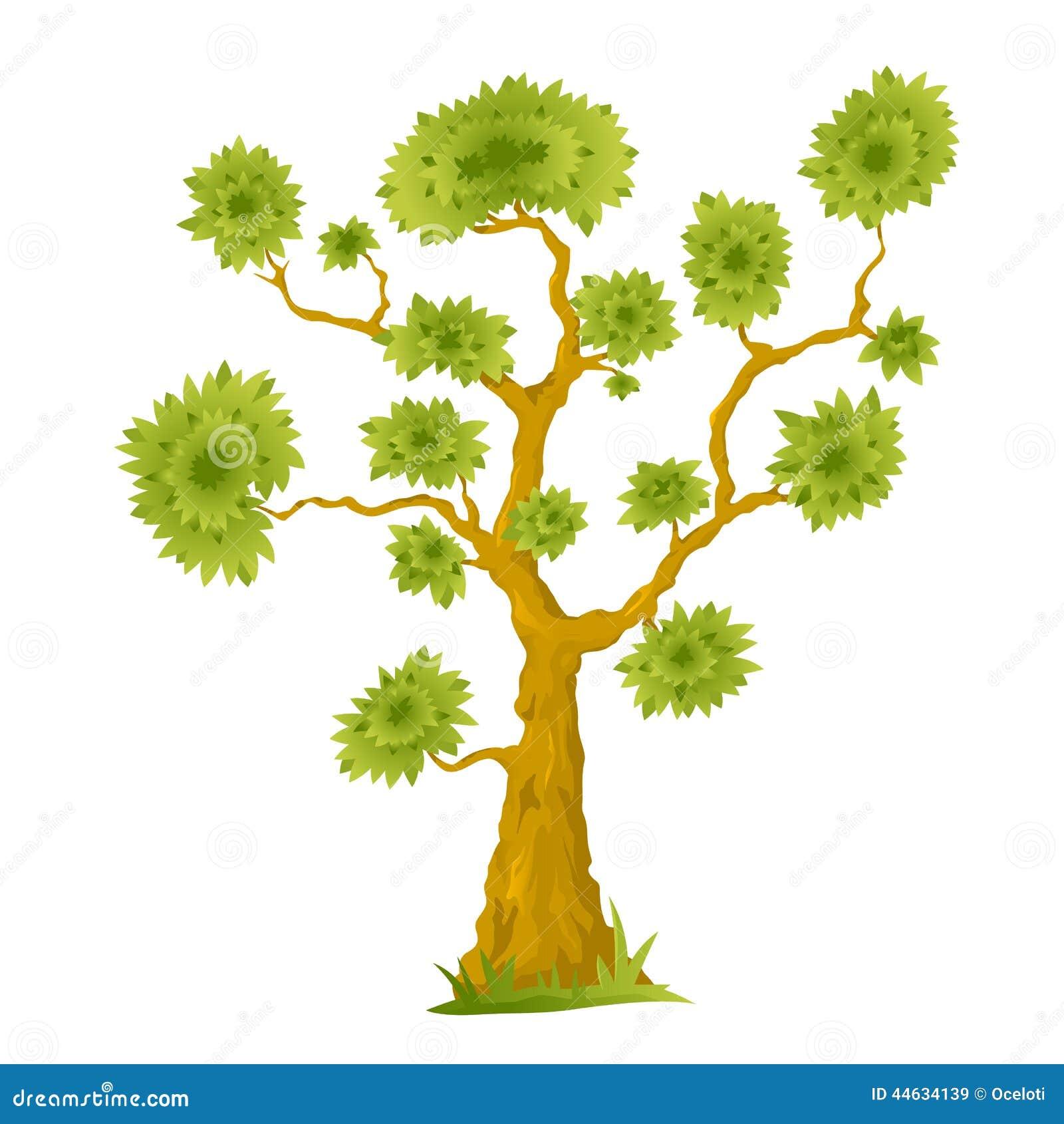 25 cartoon bonsai trees set stock vector image 62028015