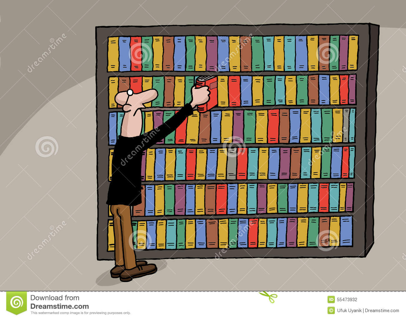 Cartoon Library Books on Reading Cl For Kids